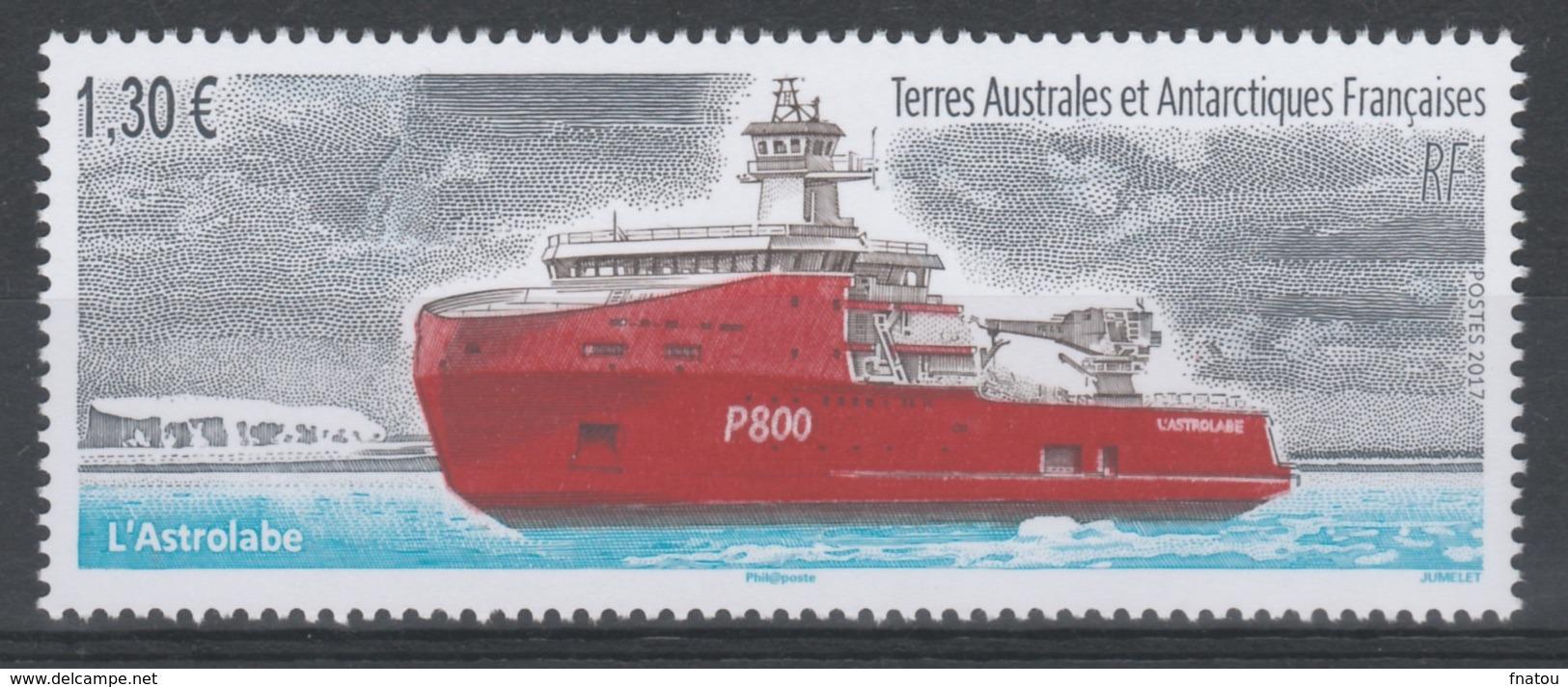 "French Antarctic (FSAT), Ship, ""l'Astrolabe"", 2017, MNH VF - Terre Australi E Antartiche Francesi (TAAF)"