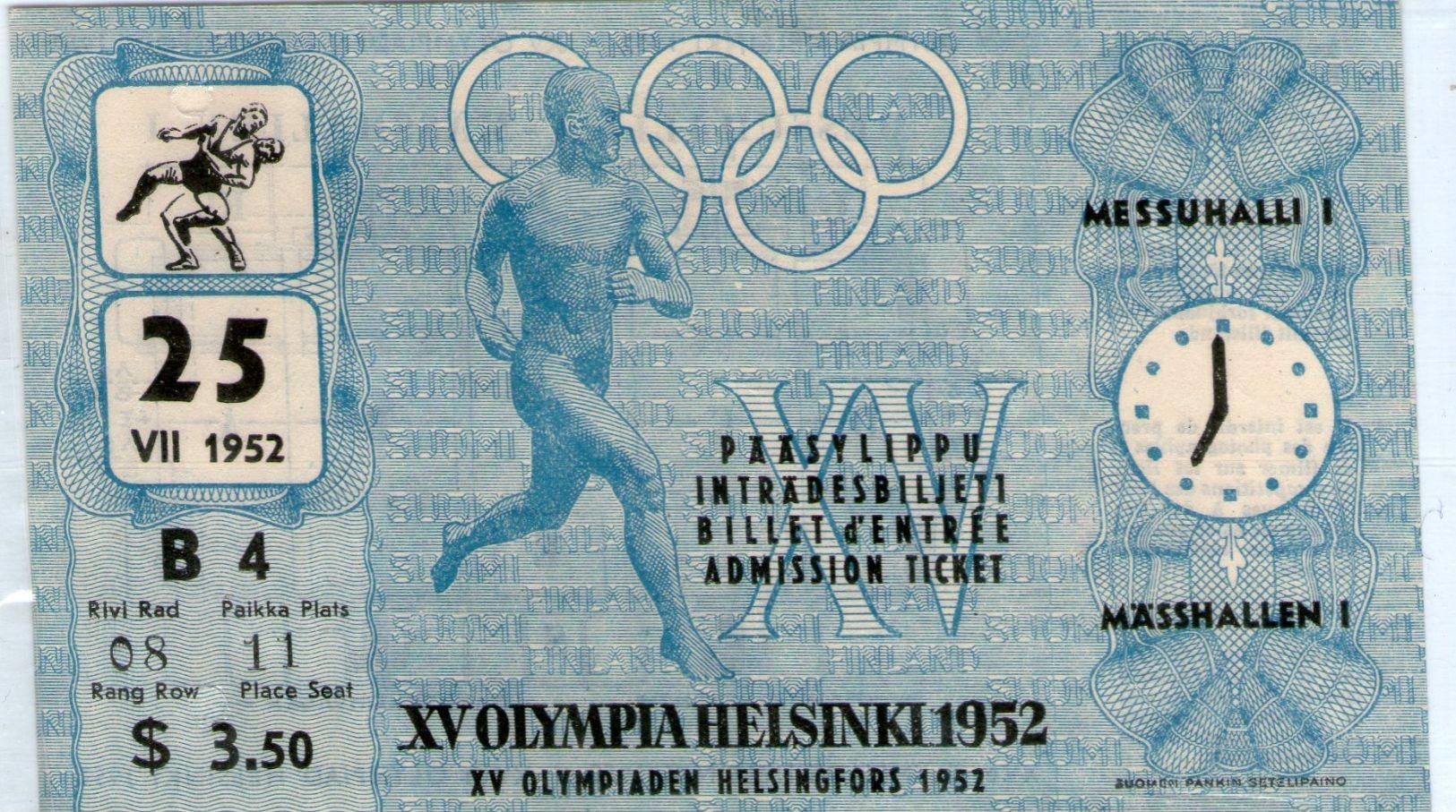 Helsinki 1952 Olympik Game For USA For Wresteling - Trading-Karten