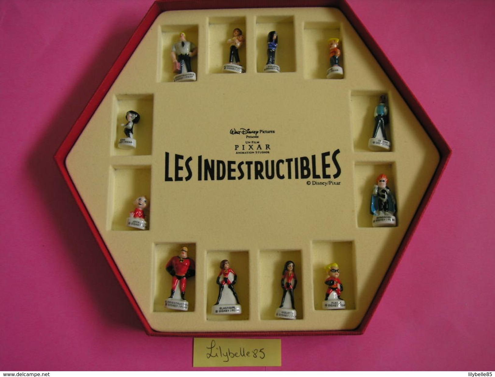 Coffret Collector Série Complète De 12 Fèves Disney / PIXAR - LES INDESTRUCTIBLES 2005 ( Feve THE INCREDITS ) - Disney