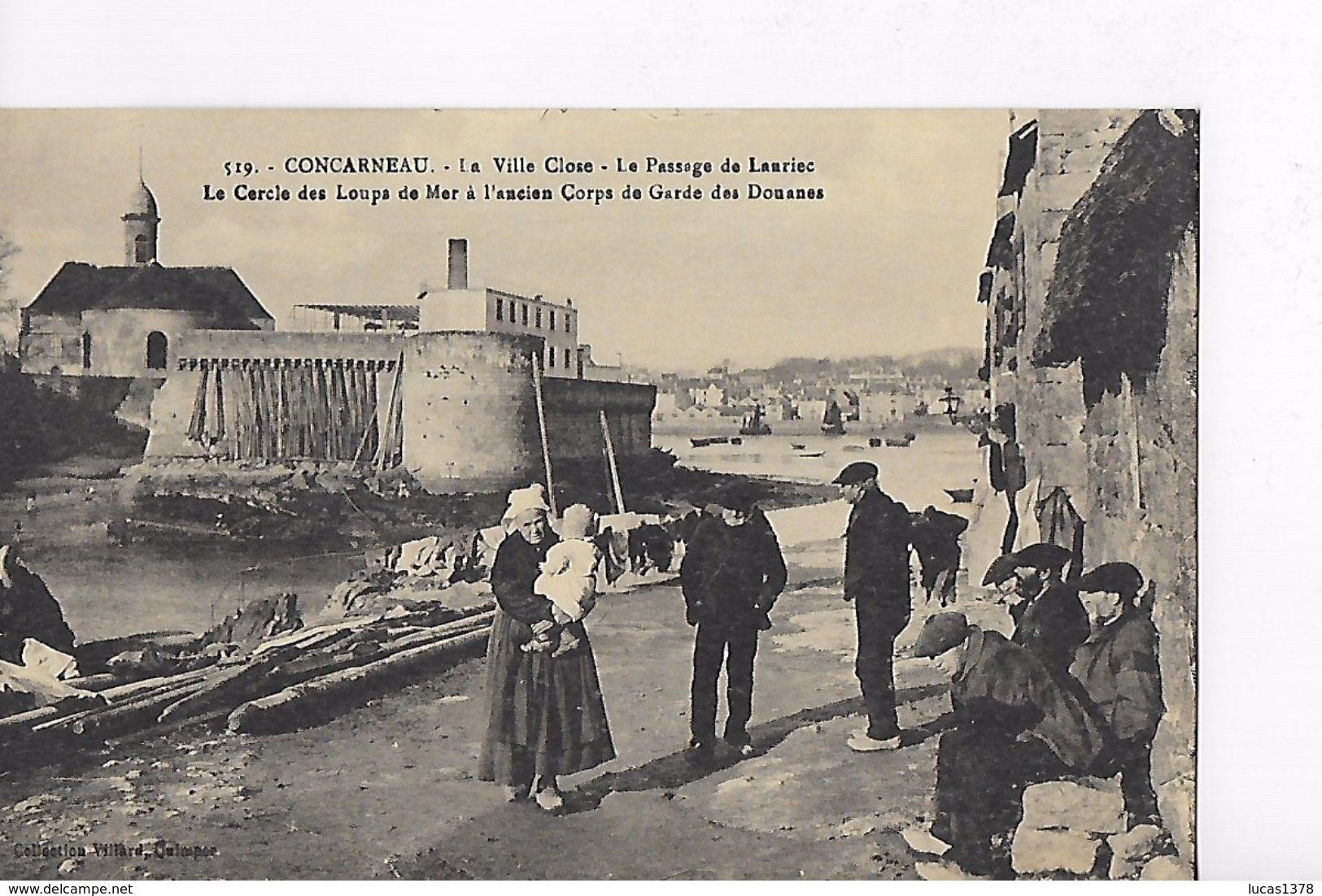 29 / CONCARNEAU / LE PASSAGE DE LANRIEC / LE CERCLE DES LOUPS DE MER - Concarneau