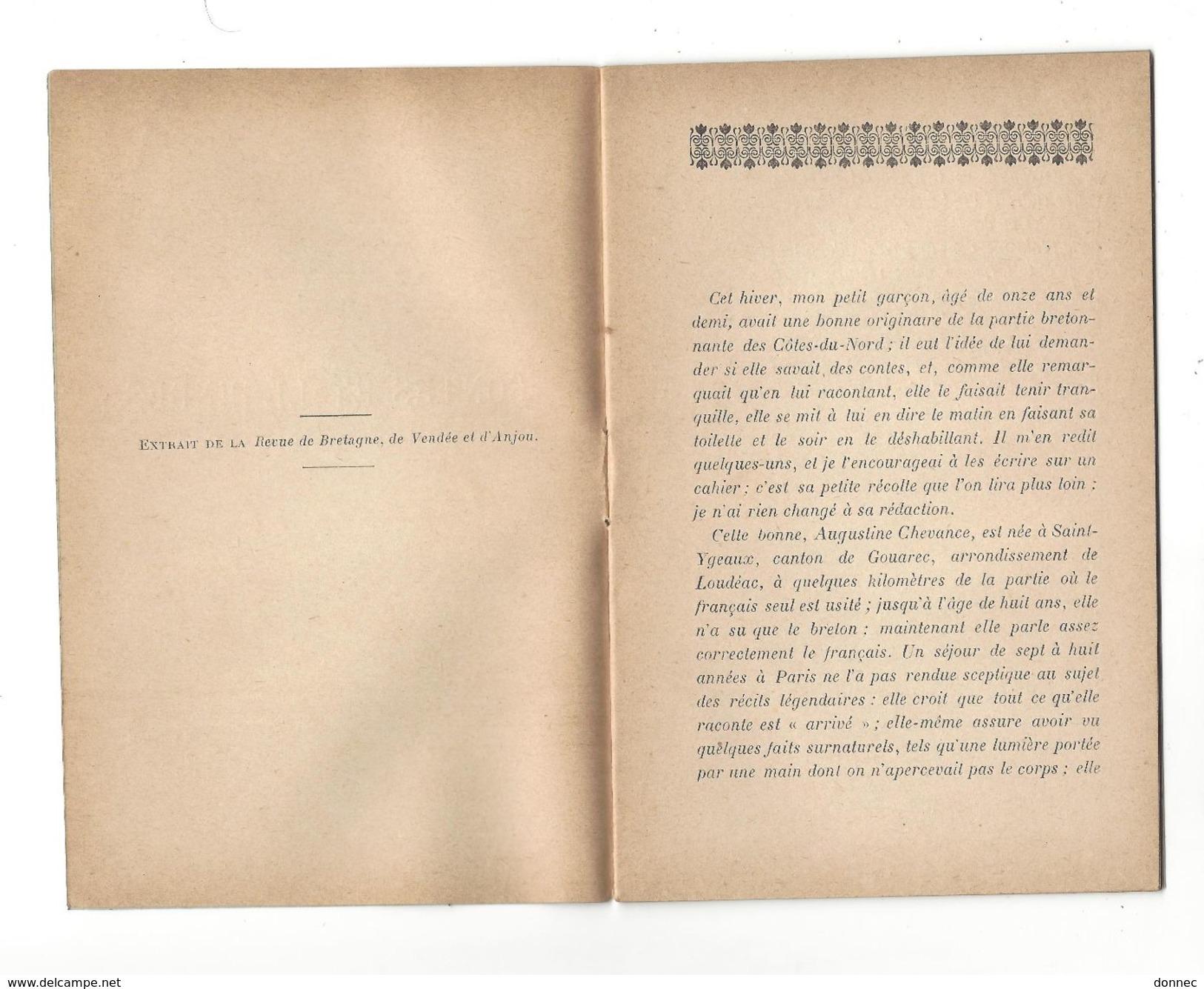 Paul-Yves Sébillot : Contes Et Légendes Du Pays De Gouarec , In 12  , 23 P Vannes Librairie Lafolye 1897 - Livres, BD, Revues