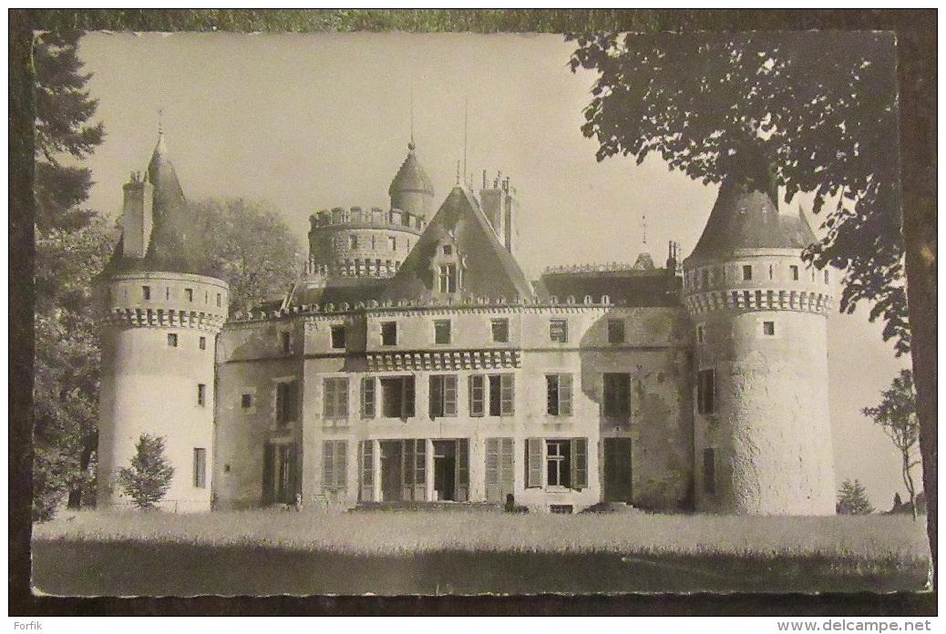 Grossouvre (Cher) - Le Château Façade Nord - Carte Photo Circulée Le 6 Août 1955 - France