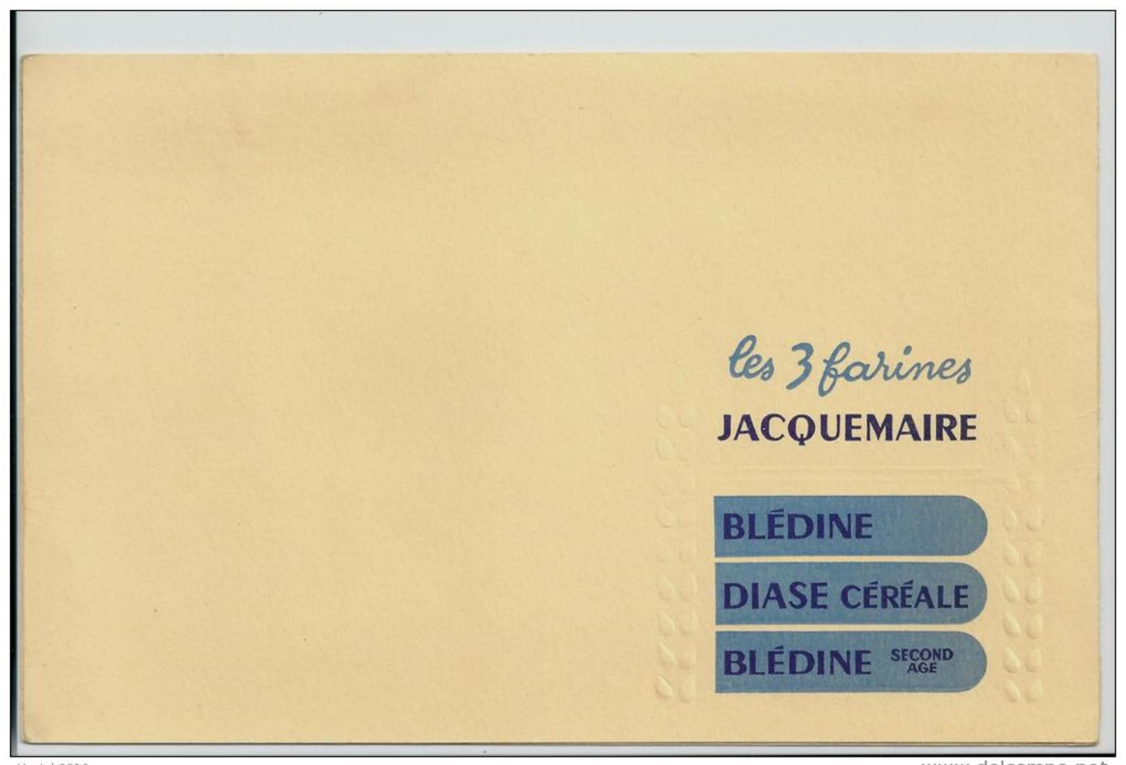 """Buvard - Les 3 Farines Jacquemaire  """" Blédine - Diase Céréale - Blédine  Second Age - Kids"""