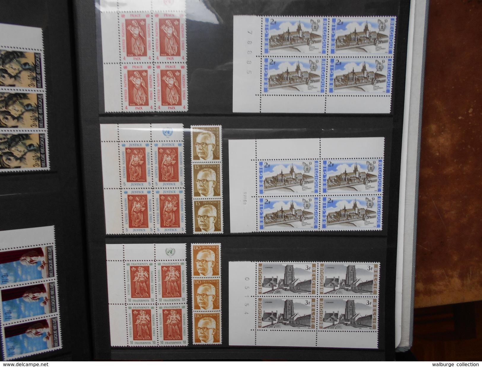 DEPART 1 EURO ! BELGIQUE (MAJORITES) + EUROPE TOUT EN NEUF ET BLOCS DE 4. (1909) 2 KILOS 300 - Belgique
