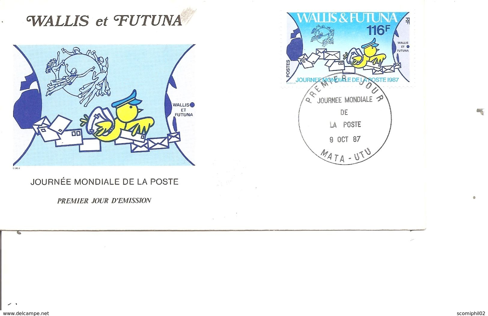 Poste ( FDC De Wallis Et Futuna De 1987 à Voir) - Post