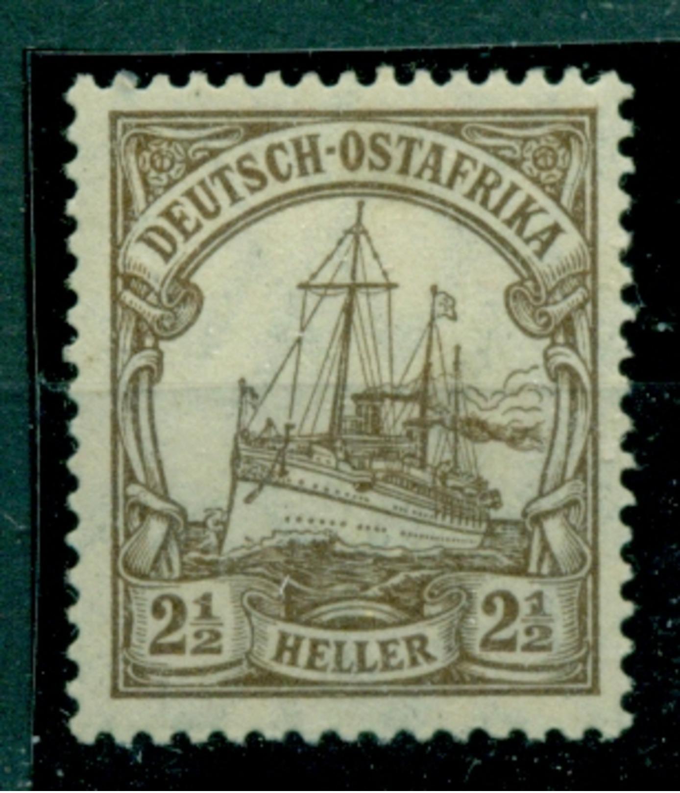 Deutsch-Ostafrika. Schiffszeichnung , Nr. 22  Postfrisch ** - Kolonie: Deutsch-Ostafrika