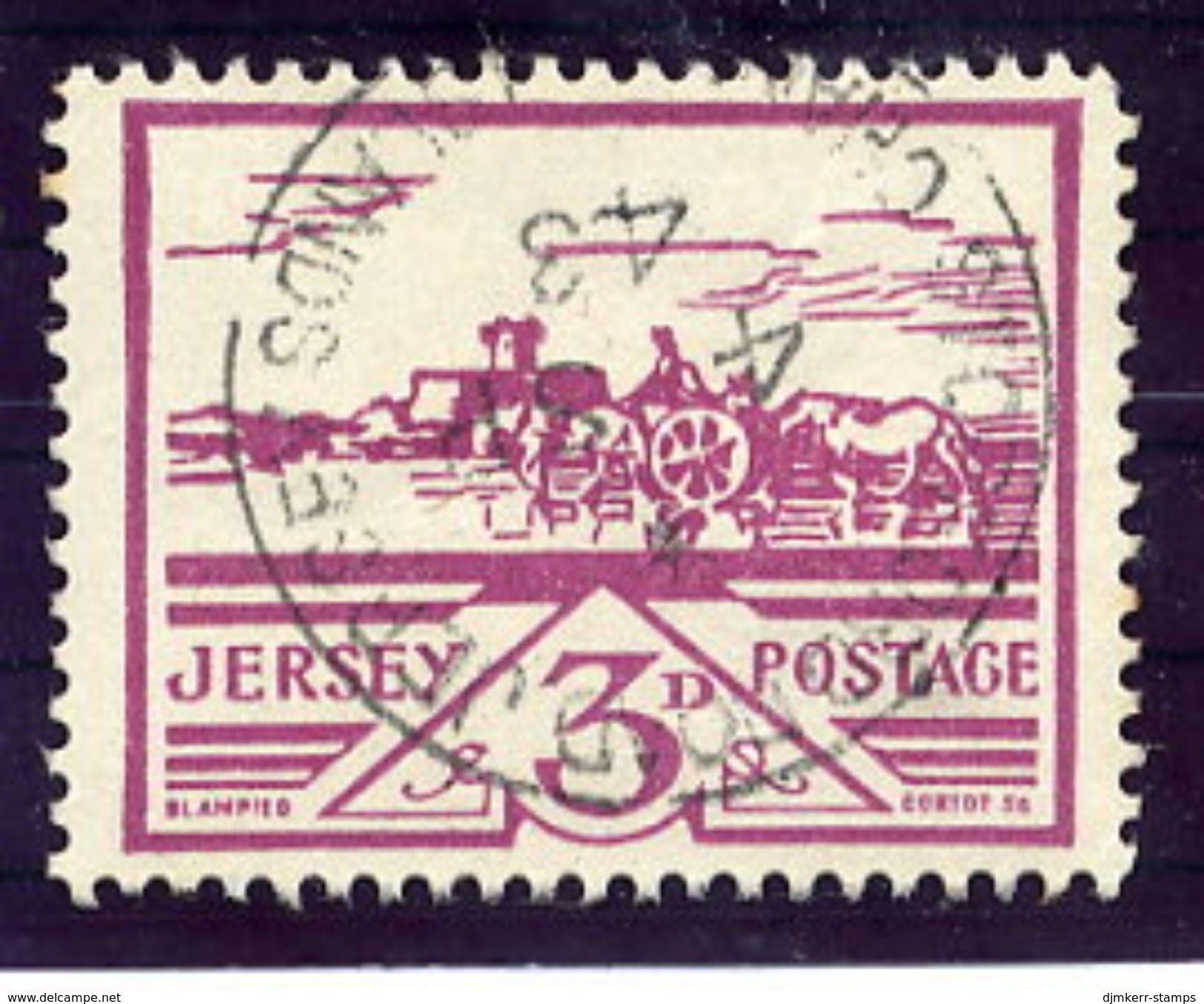 CHANNEL ISLANDS: JERSEY 1943 3 P. Used.  Michel 8 - Occupation 1938-45