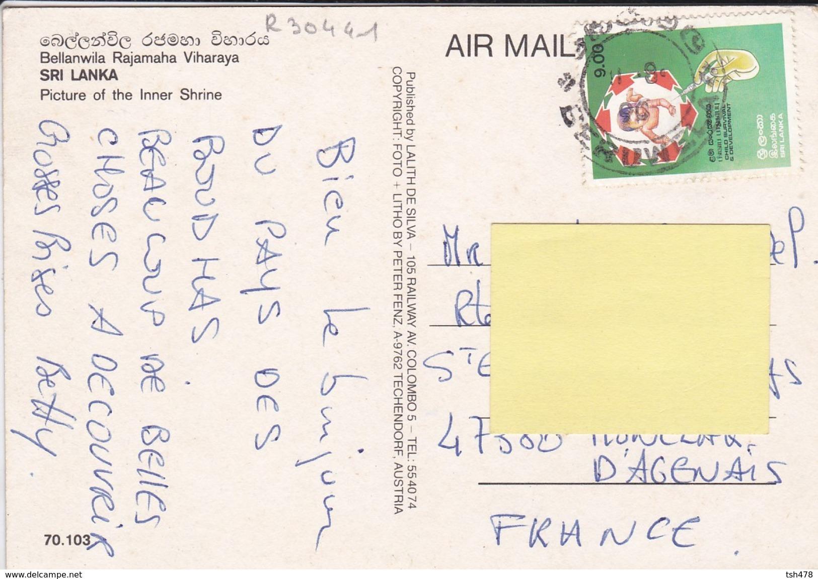ASIE---SRI LANKA--bellanwila Rajamaha Viharaya--voir 2 Scans - Sri Lanka (Ceylon)