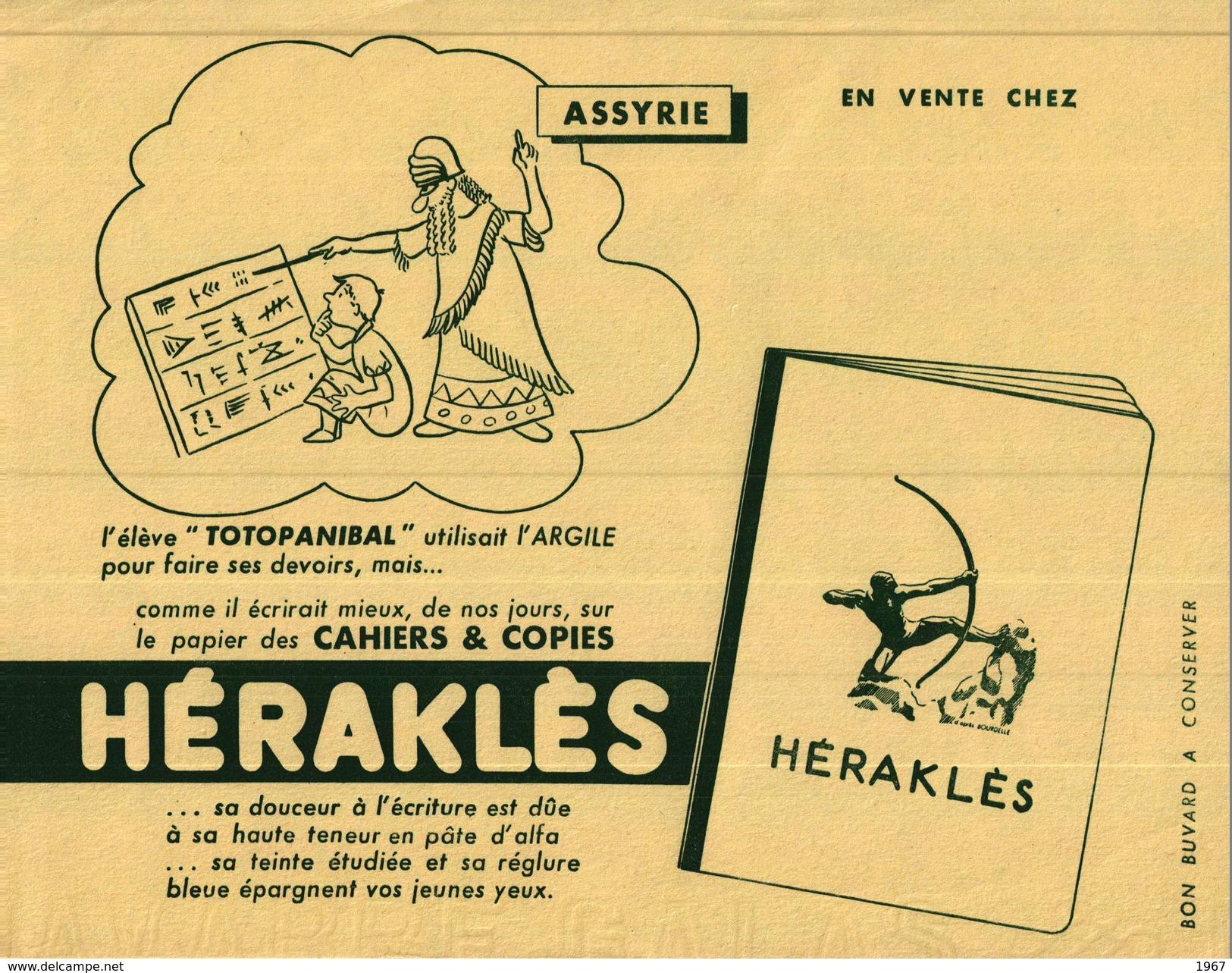Buvard  -       Cahiers & Copies  KERAKLES      Assyrie - Blotters