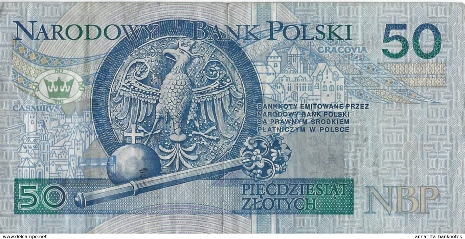 POLAND 50 ZŁOTYCH 1994 (1995) P-175a G/VG CIRC. AT FACE VALUE [PL856a] - Poland
