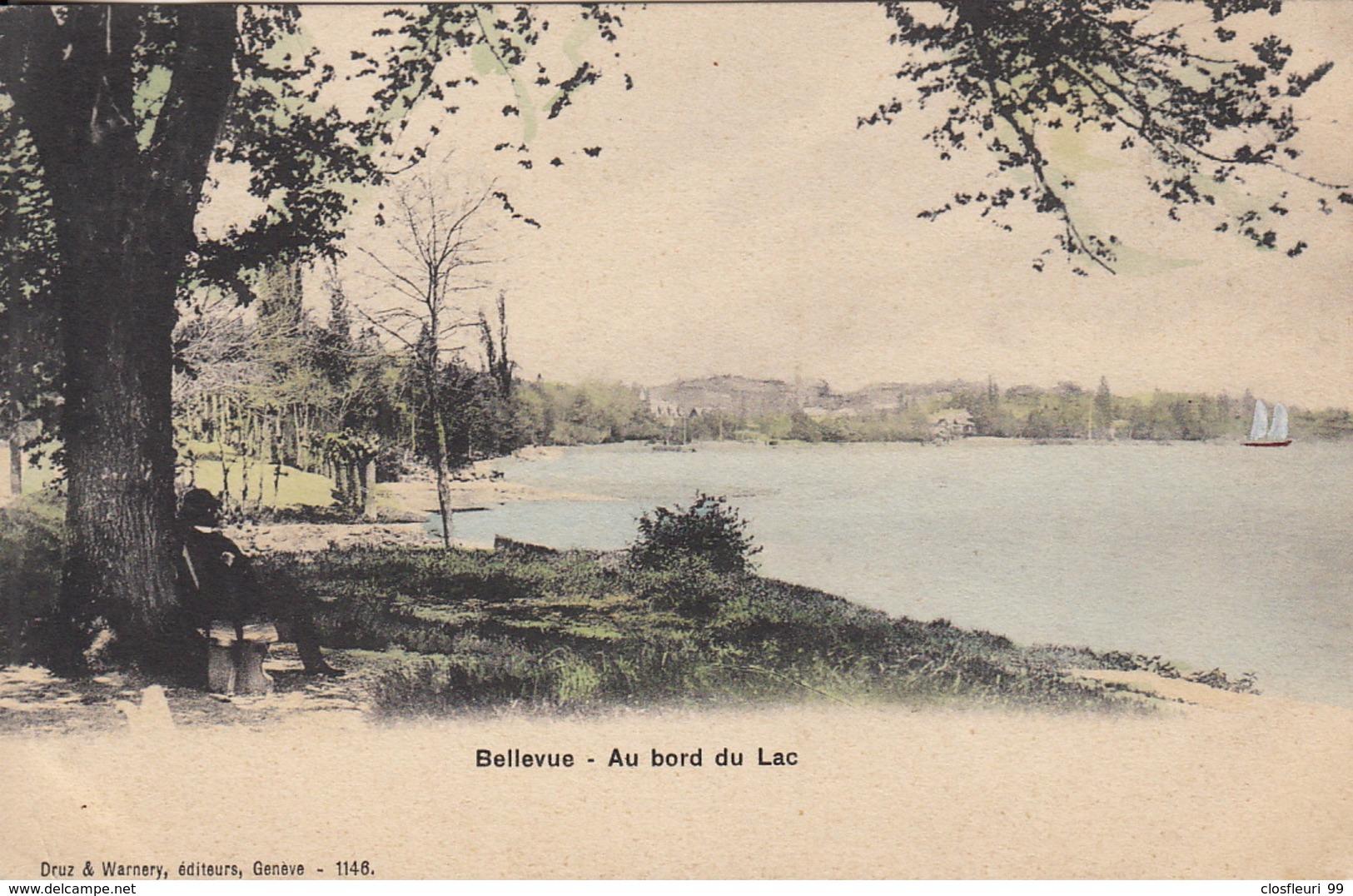 Bellevue 1907.  Encore Paisible Et Bucolique. Vue Disparue Aujourd'hui - GE Geneva
