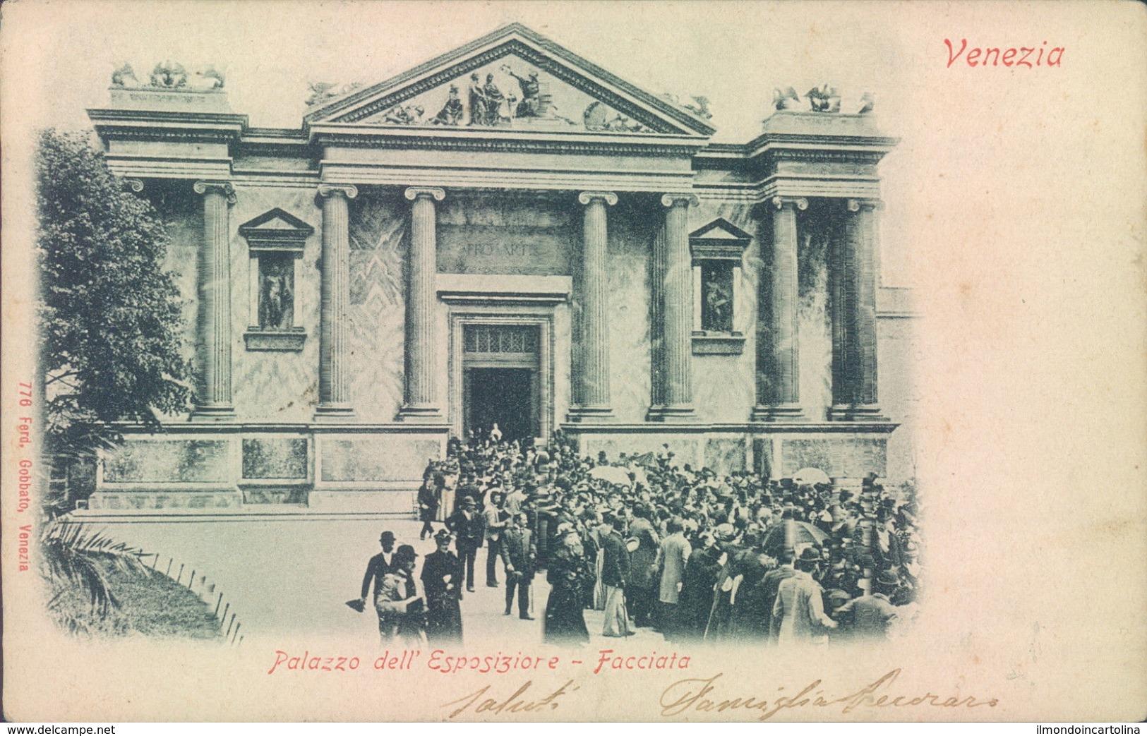 Z358 - Venezia - Palazzo Dell'esposizione-facciata-1901 - Venezia