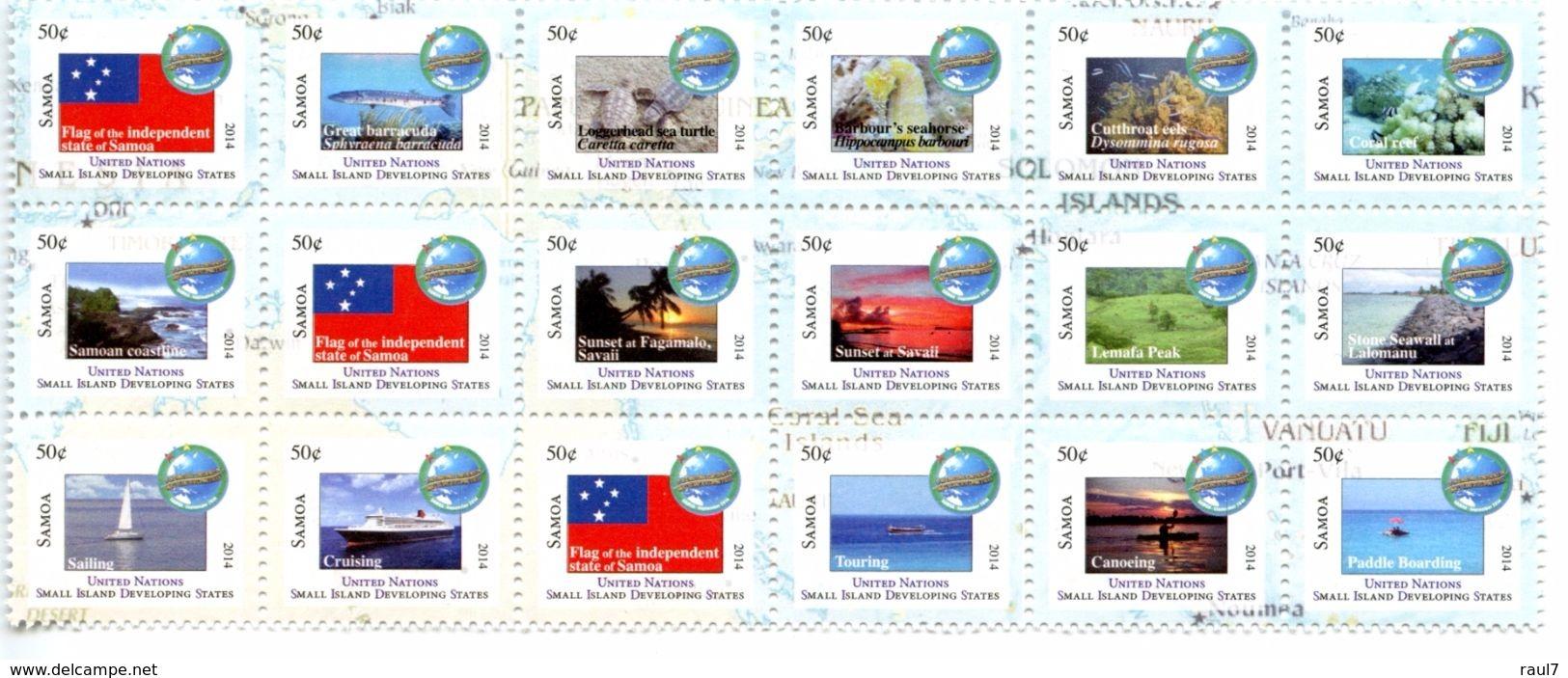 SAMOA 2014 - Nations Unies, Développement Des Petits états, Drapeaux - 18 Val Neufs // Mnh - Samoa