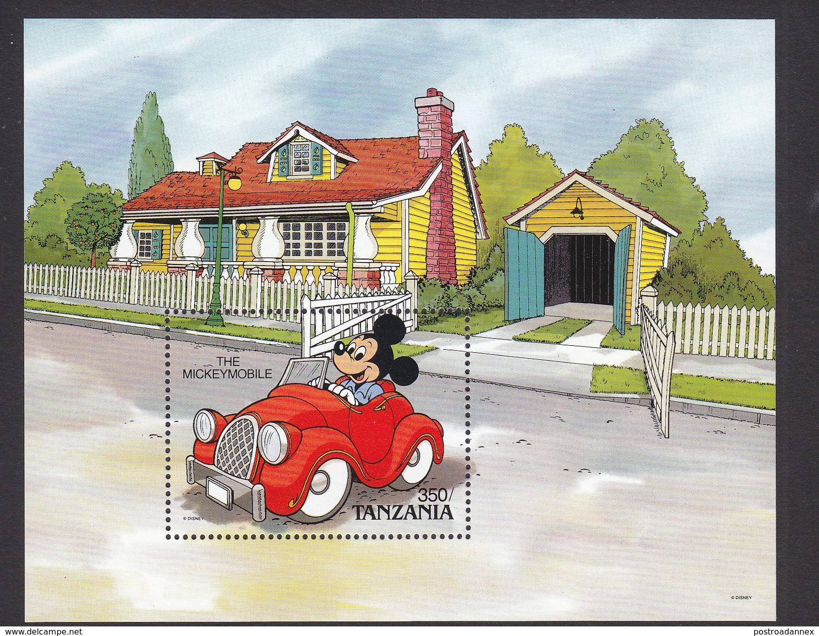 Tanzania, Scott #579, Mint Never Hinged, Disney, Issued 1990 - Tanzania (1964-...)