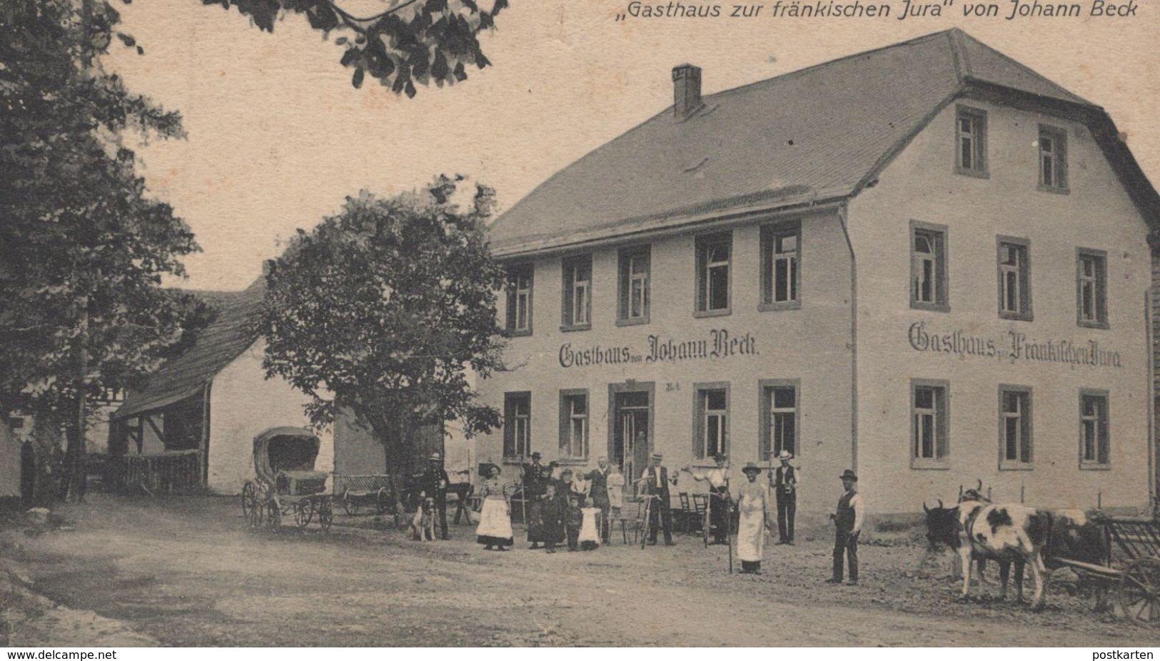 ALTE POSTKARTE GRUSS AUS HARTHENREUTH GASTHAUS ZUR FRÄNKISCHEN JURA VON JOHANN BECK Gössweinstein Cpa Postcard AK - Germania