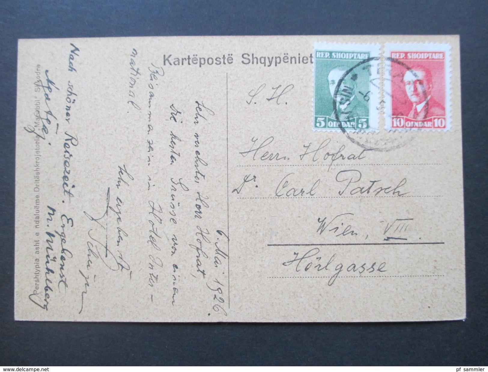 AK 1926 Albanien Durres. Fusha E Kasapvet. Seltene Karte! Social Philately Carl Patsch Archaeologe Und Historiker!! - Albanien
