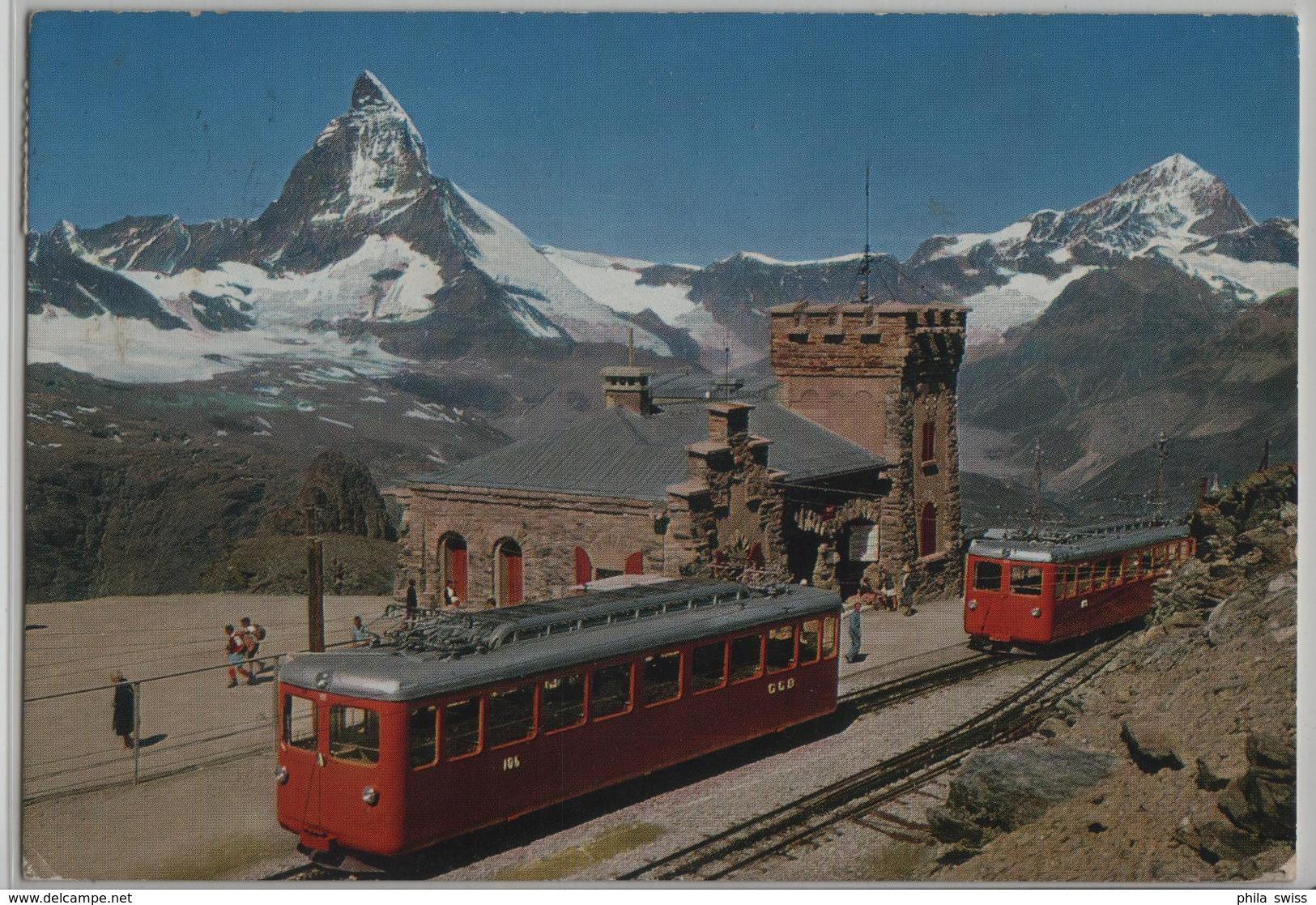 Station Gornergrat, Zermatt, Matterhorn, Dt. Blanche - Photo: Klopfenstein - VS Valais