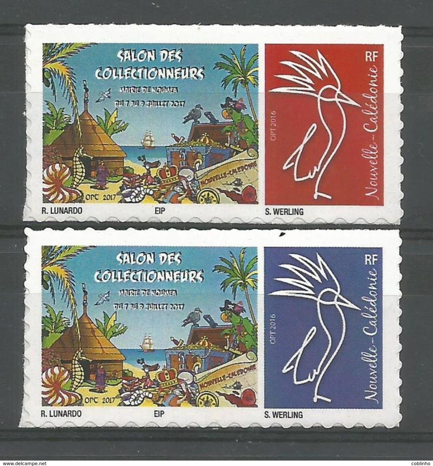 NOUVELLE CALEDONIE (New Caledonia)- Timbre Personnalisé - OPT - 2017 - Salon Collectionneurs Nouméa - Unused Stamps