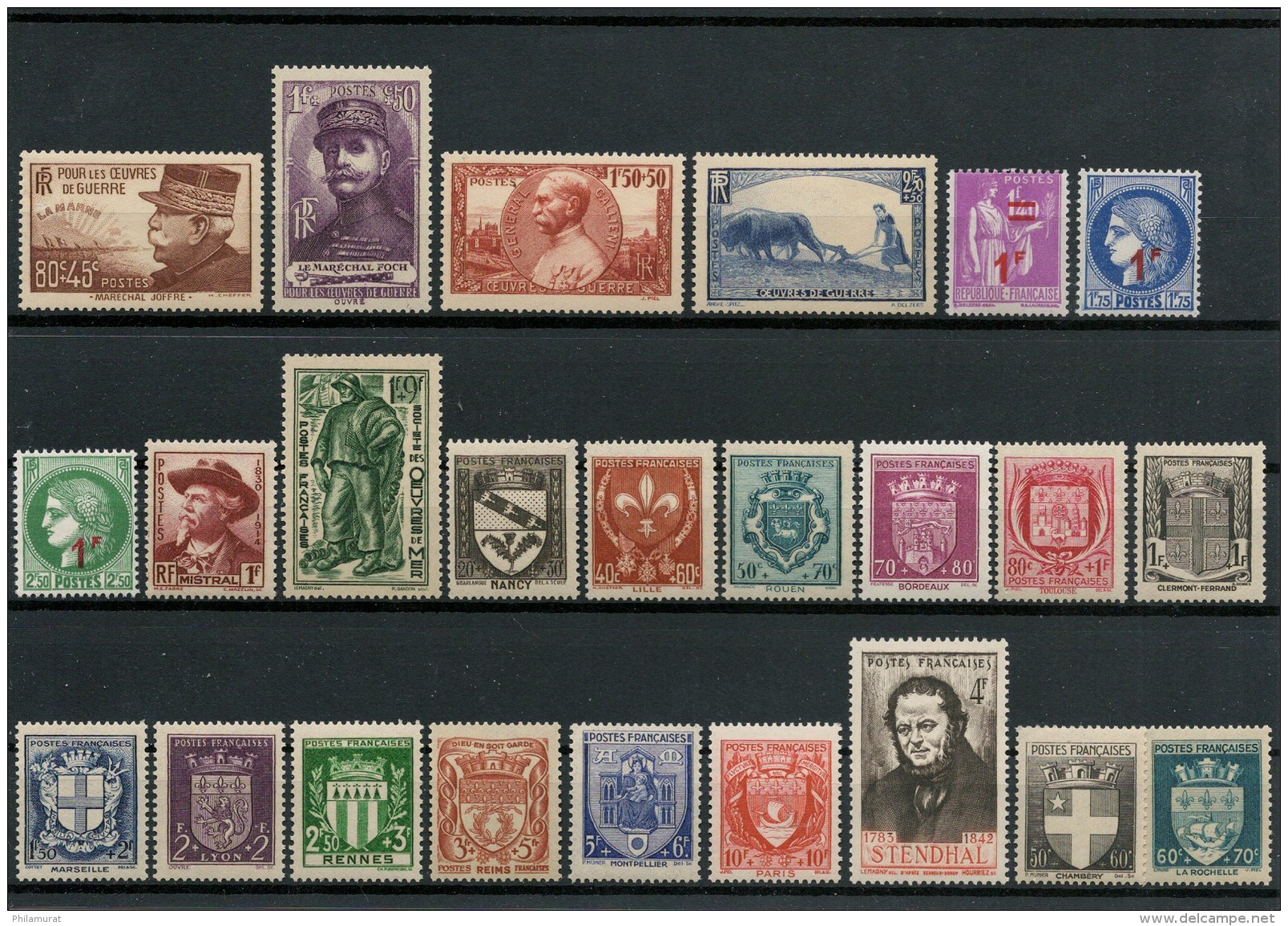 France 1940/1959 - Collection Neufs Sans Charnière - COTE 580 € - France