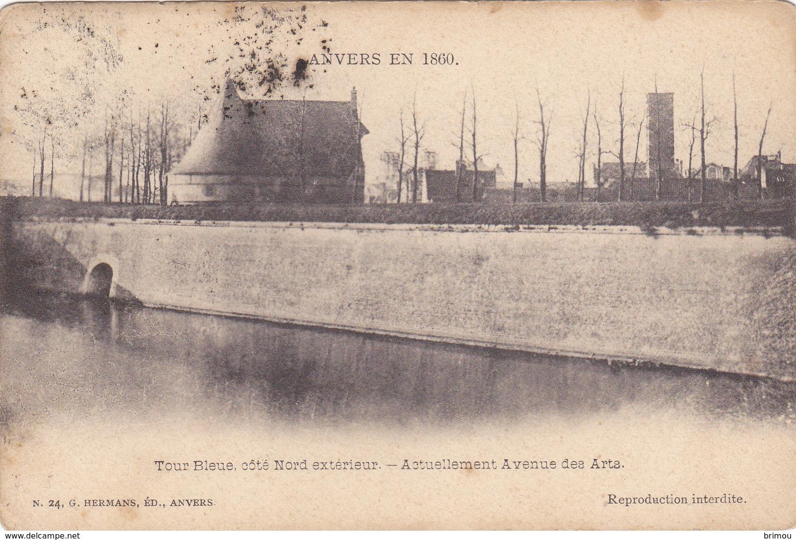 Entier Postal De Anvers Tour Bleue, Scan R/V. - Belgique