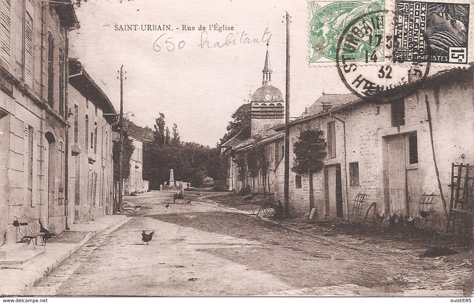 CPA - Saint-Urbain - Rue De L'église - Sonstige Gemeinden