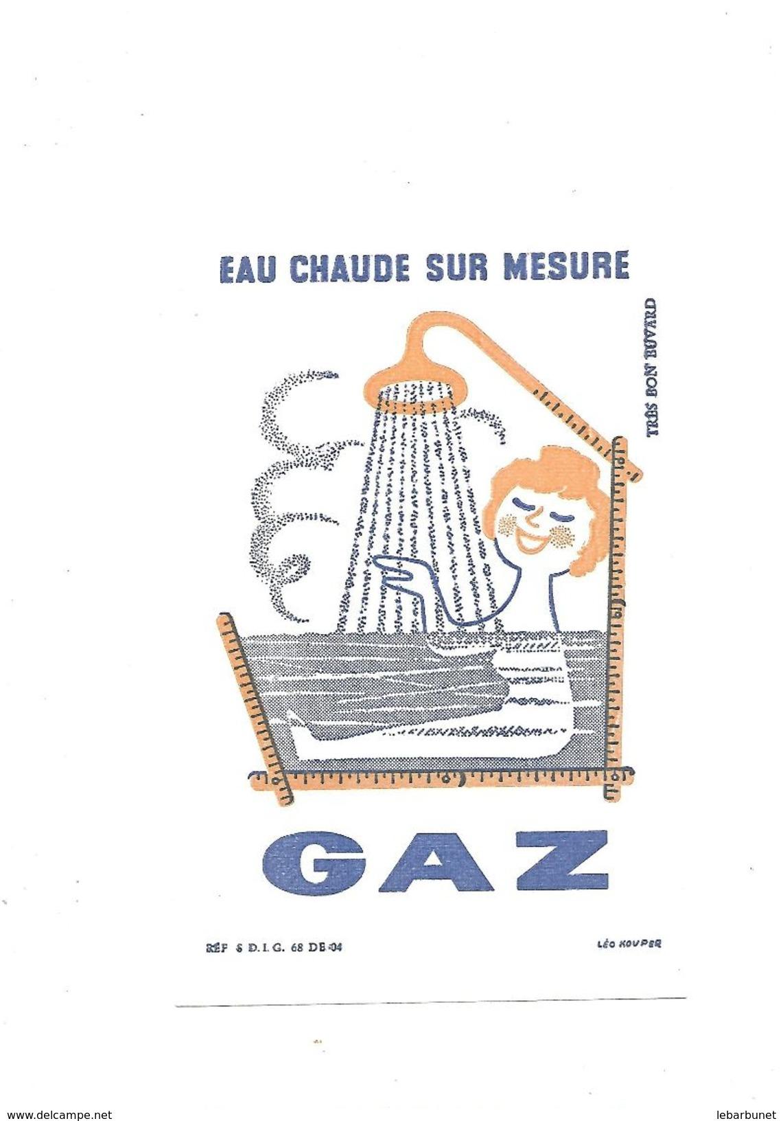 Buvard  Gaz  Eau Chaude Sur Mesure - Buvards, Protège-cahiers Illustrés