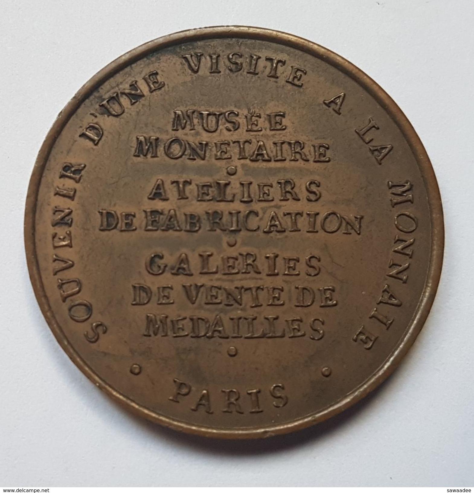 MEDAILLE - FRANCE - SOUVENIR D'UNE VISITE A LA MONNAIE - 1830 - PARIS - Non Classés