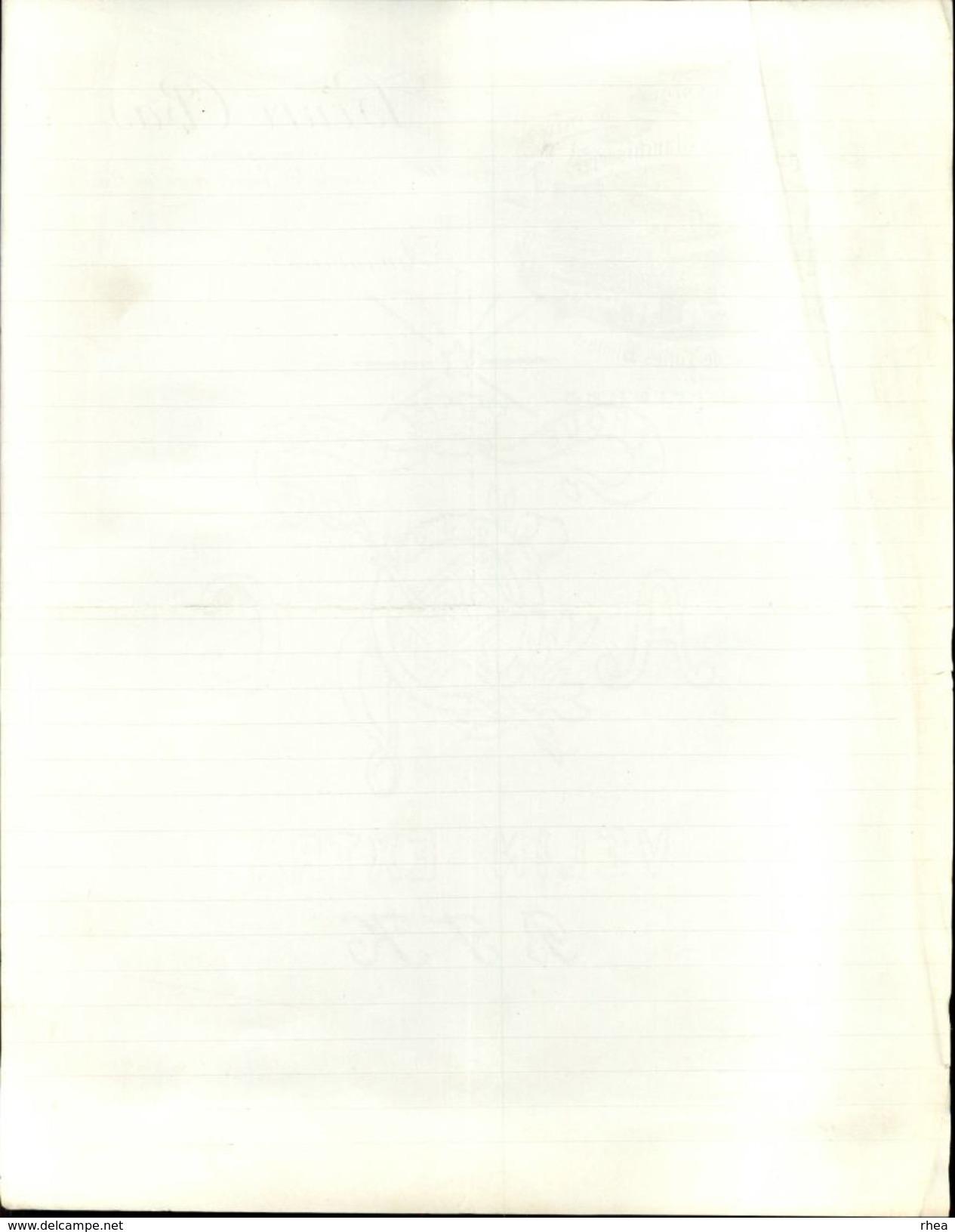 59 - ARMENTIERES - Facture - Tissage Mécanique De Toiles - Crémage Et Blanchisserie - France