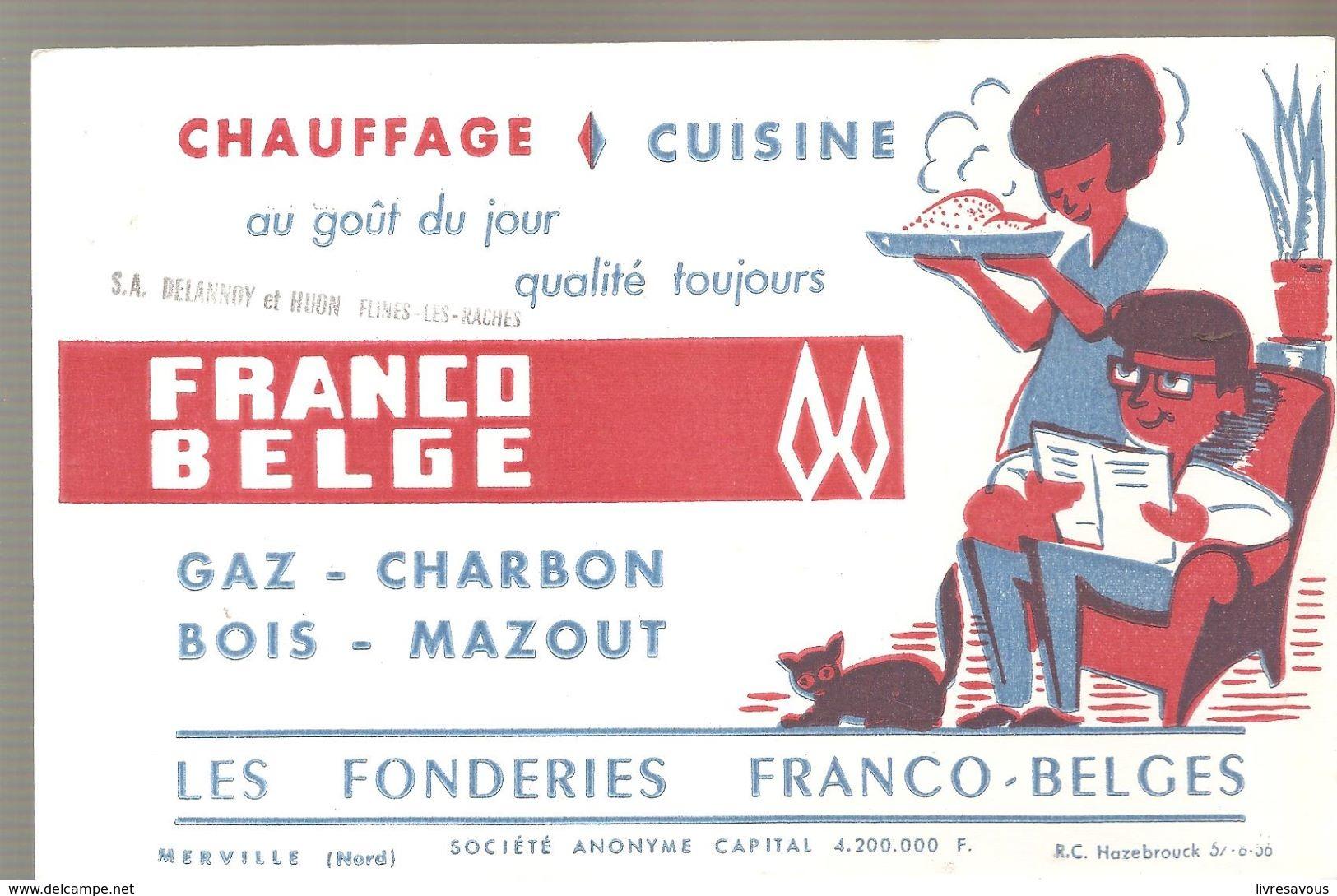 Buvard LES FONDERIES FRANCO-BELGE Chauffage & Cuisine Ets à Flines Les Raches - Electricité & Gaz