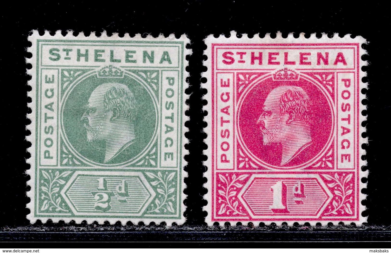 St. Helena 1902 MH Set SG 53/54 Cat £15 - St. Helena