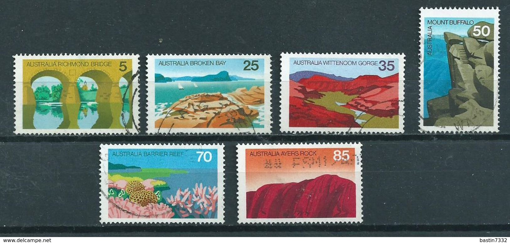 1976 Australia Complete Set Landscapes Used/gebruikt/oblitere - 1966-79 Elizabeth II