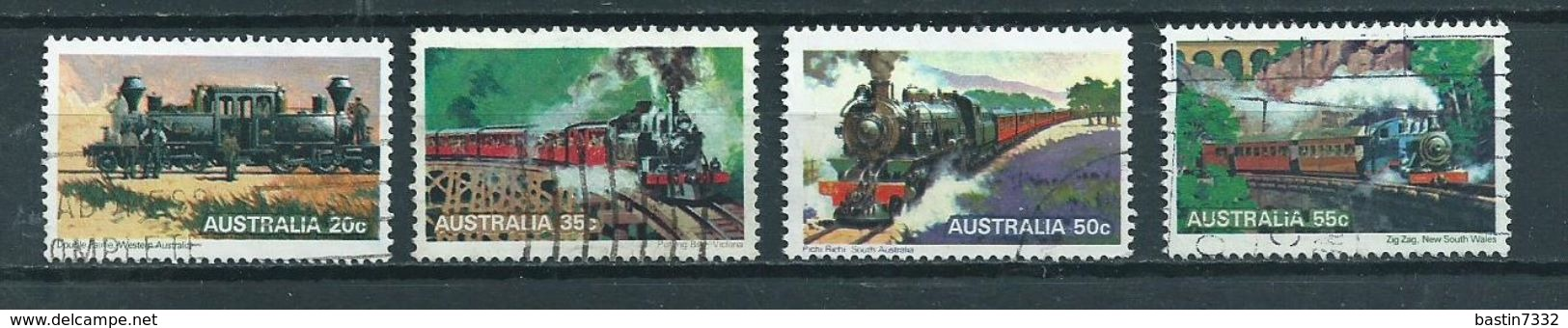 1979 Australia Complete Set Trains,railways,treinen Used/gebruikt/oblitere - 1966-79 Elizabeth II