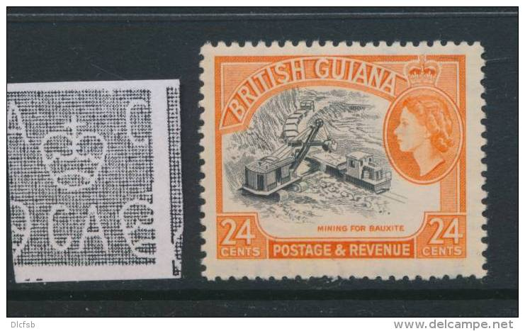 BRITISH GUIANA, 1963 24c (wmk Block CA) MNH - British Guiana (...-1966)