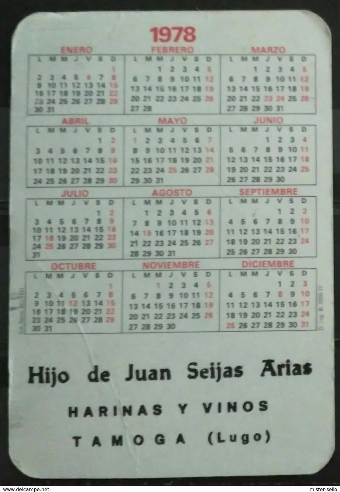 ESPAÑA 1978. CALENDARIO. - Calendarios