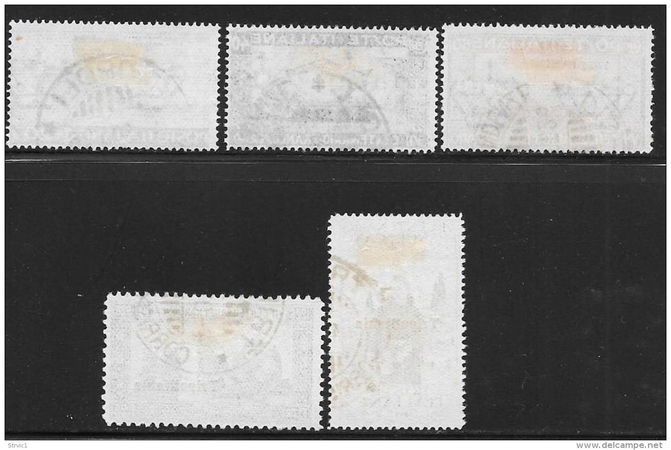 Tripolitania, Scott # 20-24 Used St. Francis Of Assisi, 1926, CV$155.50 - Tripolitania