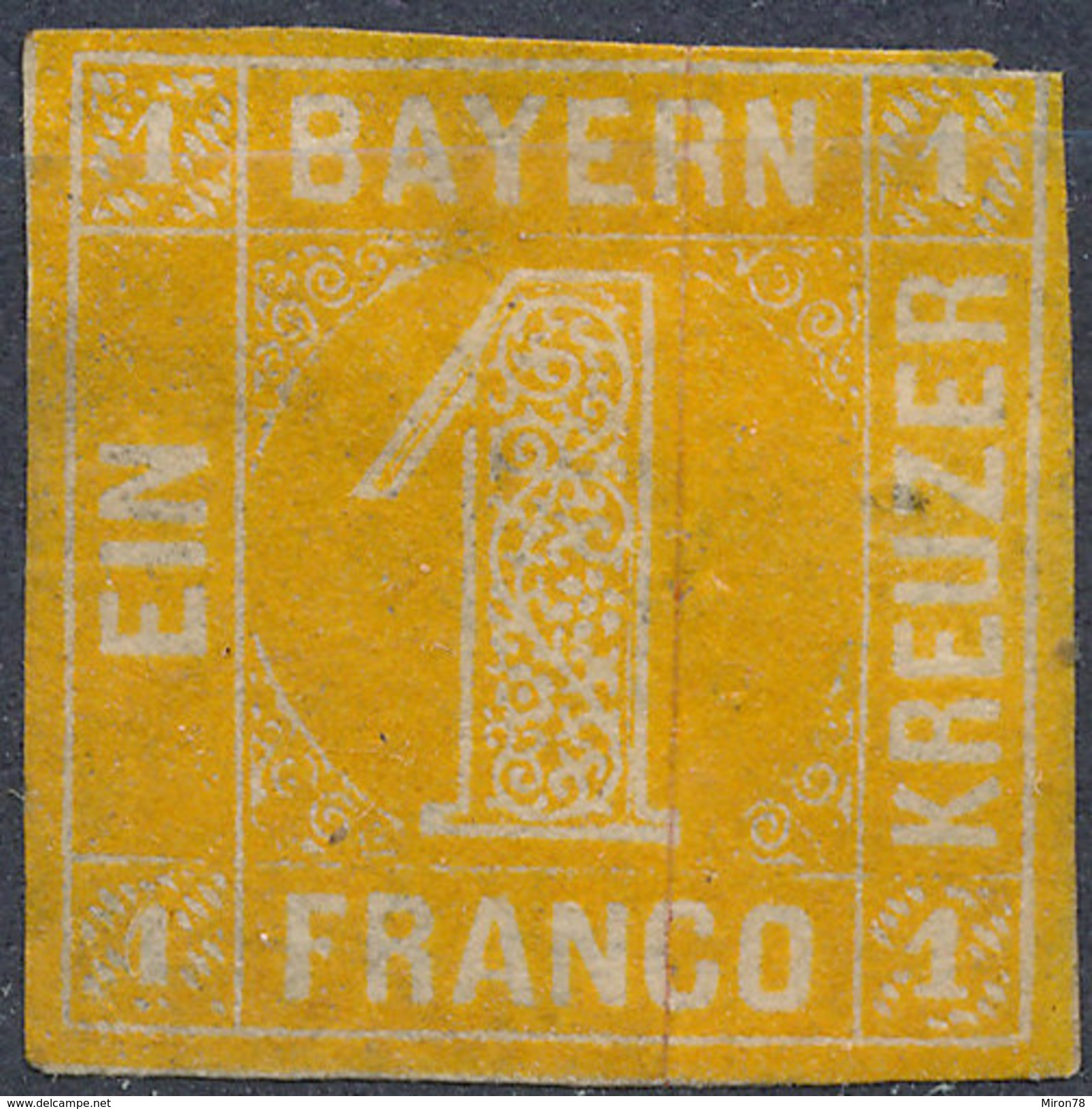 Stamp Bavaria 1862 1kr Mint Lot #5 - Bayern