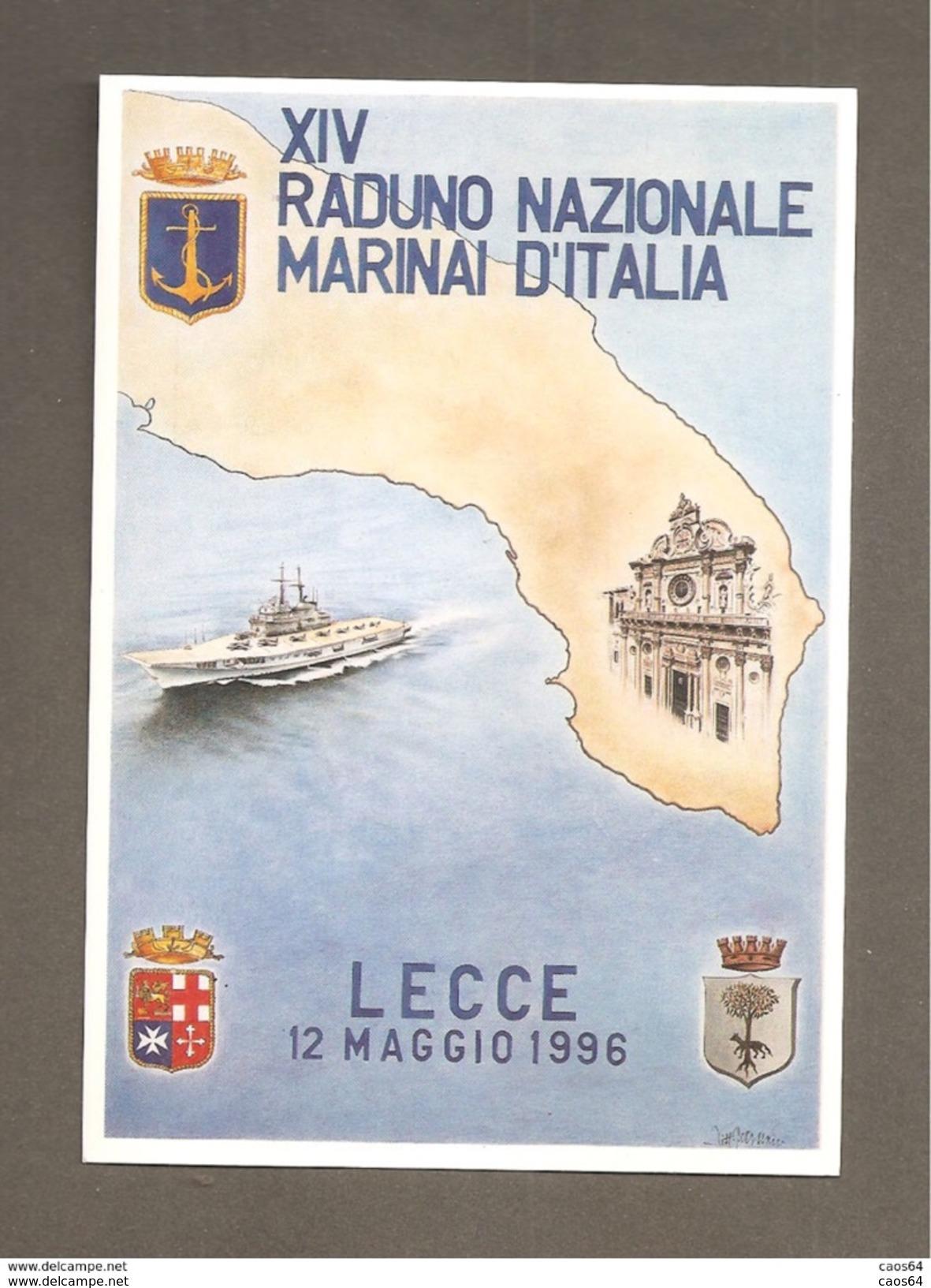 XIV RADUNO NAZIONALE MARINAI D'ITALIA  LECCE 1996  CARTOLINA - Altri