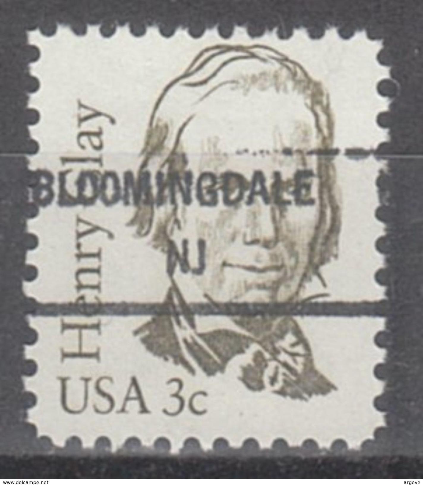 USA Precancel Vorausentwertungen Preo, Locals New Jersey, Bloomingdale 846 - Vereinigte Staaten
