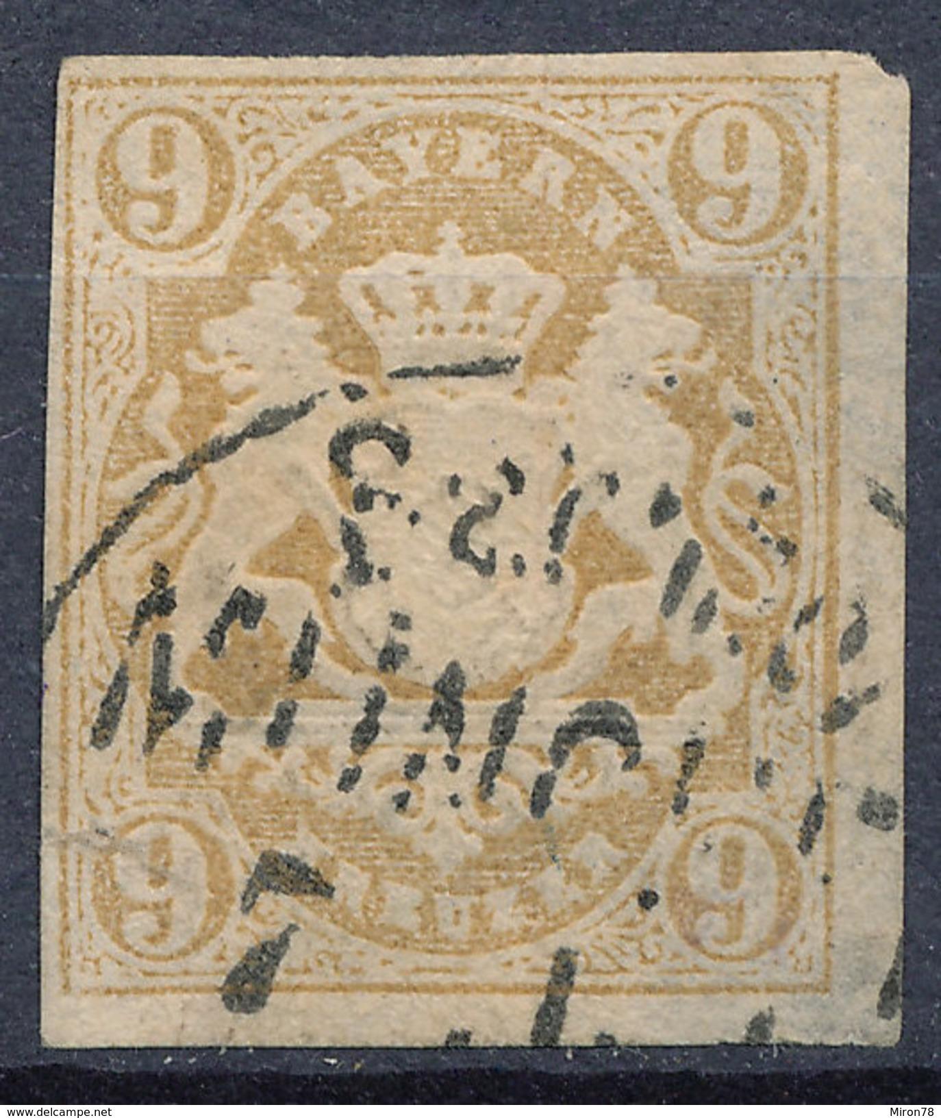 Stamp Bavaria 1867 9kr Used Lot #18 - Bayern