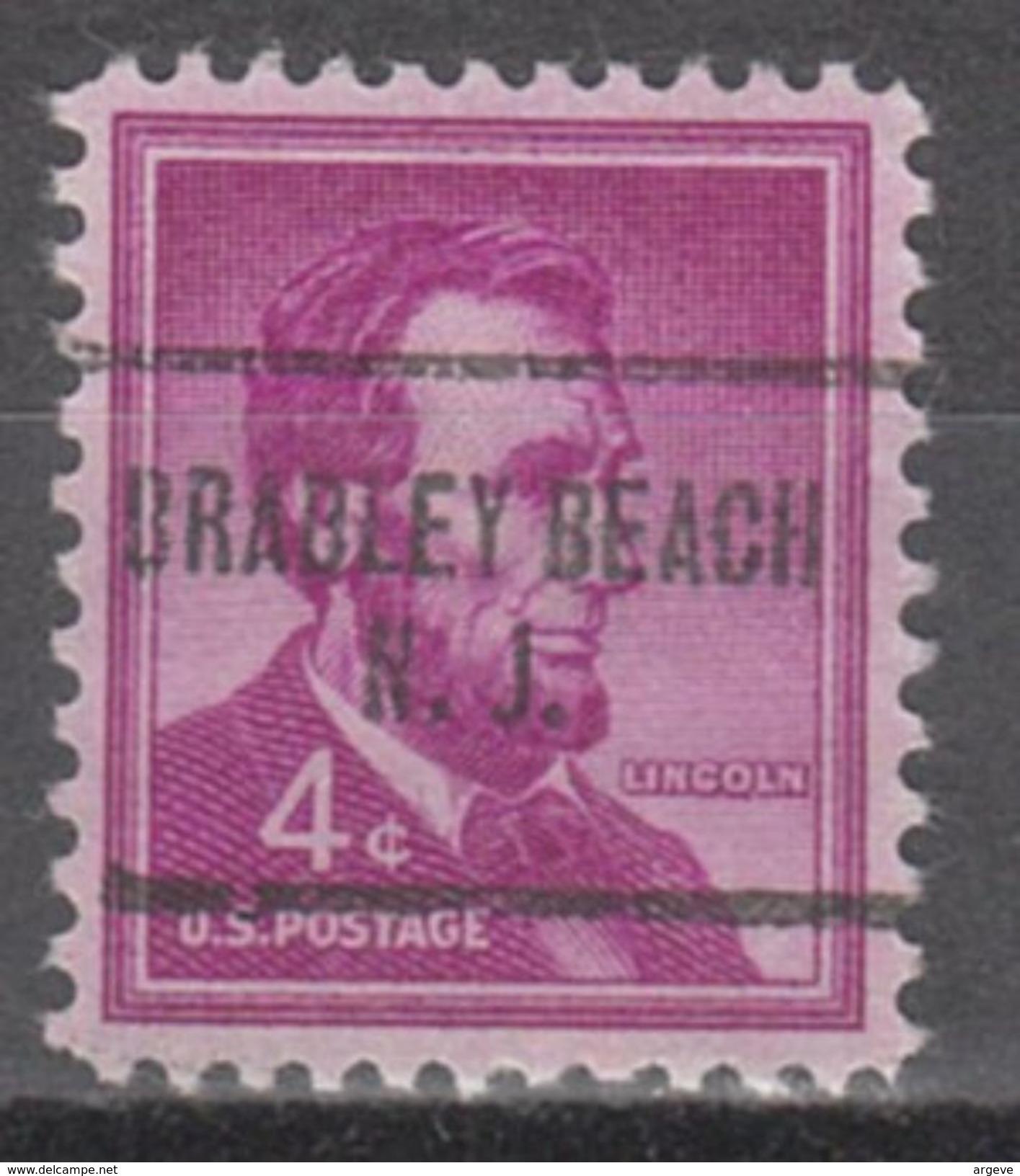 USA Precancel Vorausentwertungen Preo, Locals New Jersey, Bradley Beach 704 - Vereinigte Staaten