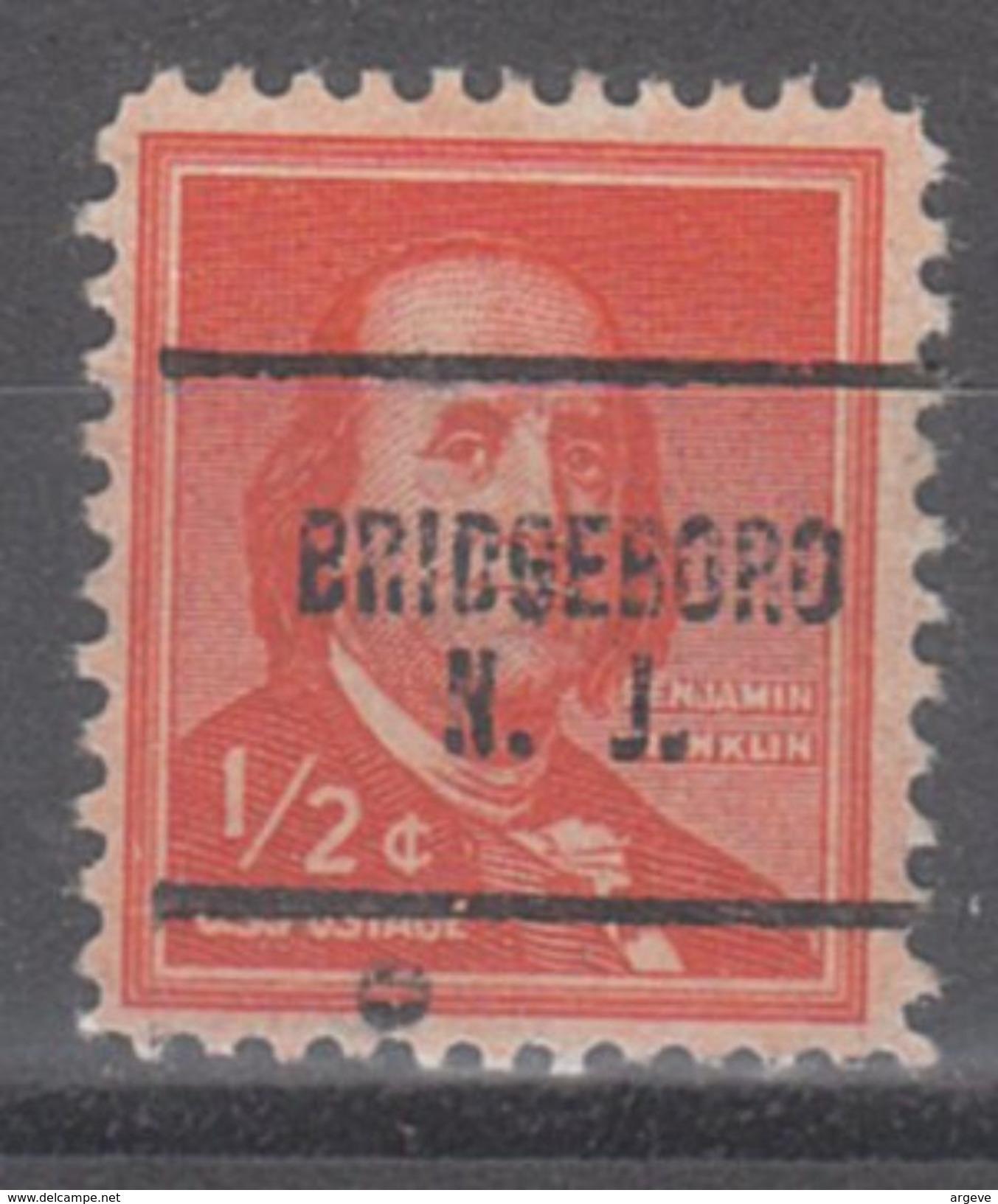 USA Precancel Vorausentwertungen Preo, Locals New Jersey, Bridgeboro 704 - Vereinigte Staaten