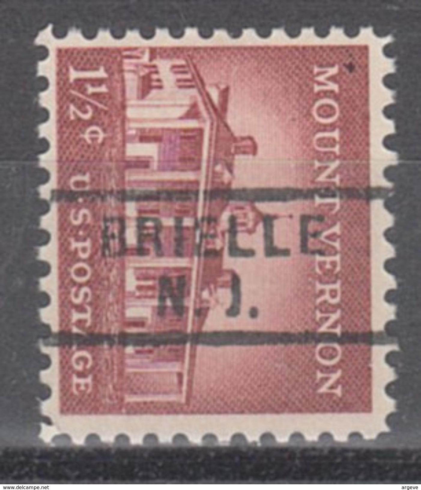 USA Precancel Vorausentwertungen Preo, Locals New Jersey, Brielle 729 - Vorausentwertungen