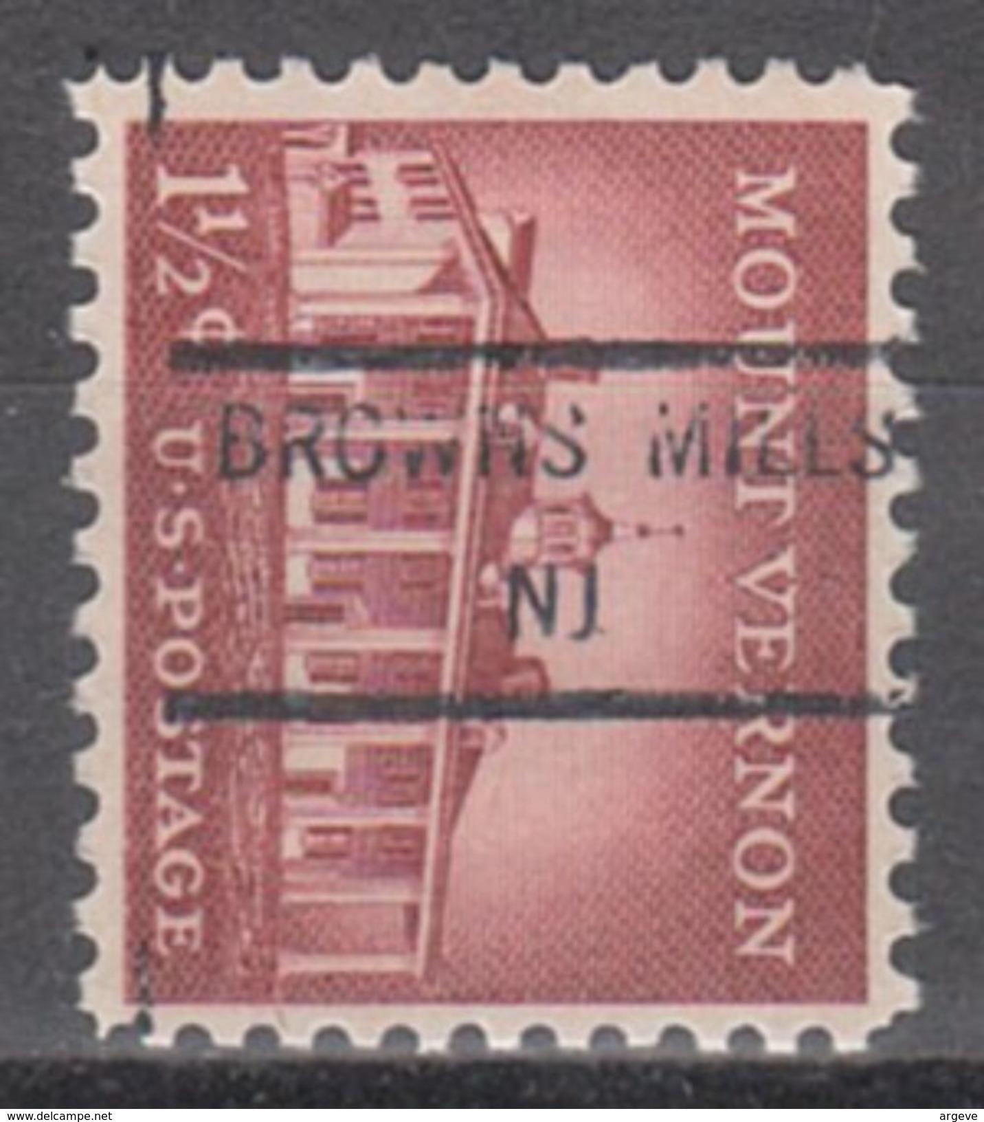 USA Precancel Vorausentwertungen Preo, Locals New Jersey, Browns Mills 846 - Etats-Unis