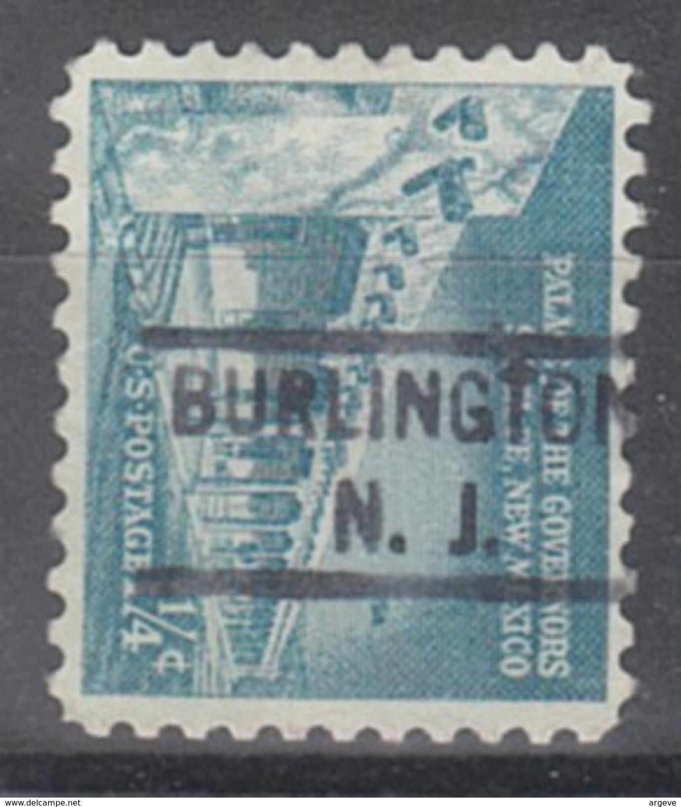 USA Precancel Vorausentwertungen Preo, Locals New Jersey, Burlington 804 - Vorausentwertungen