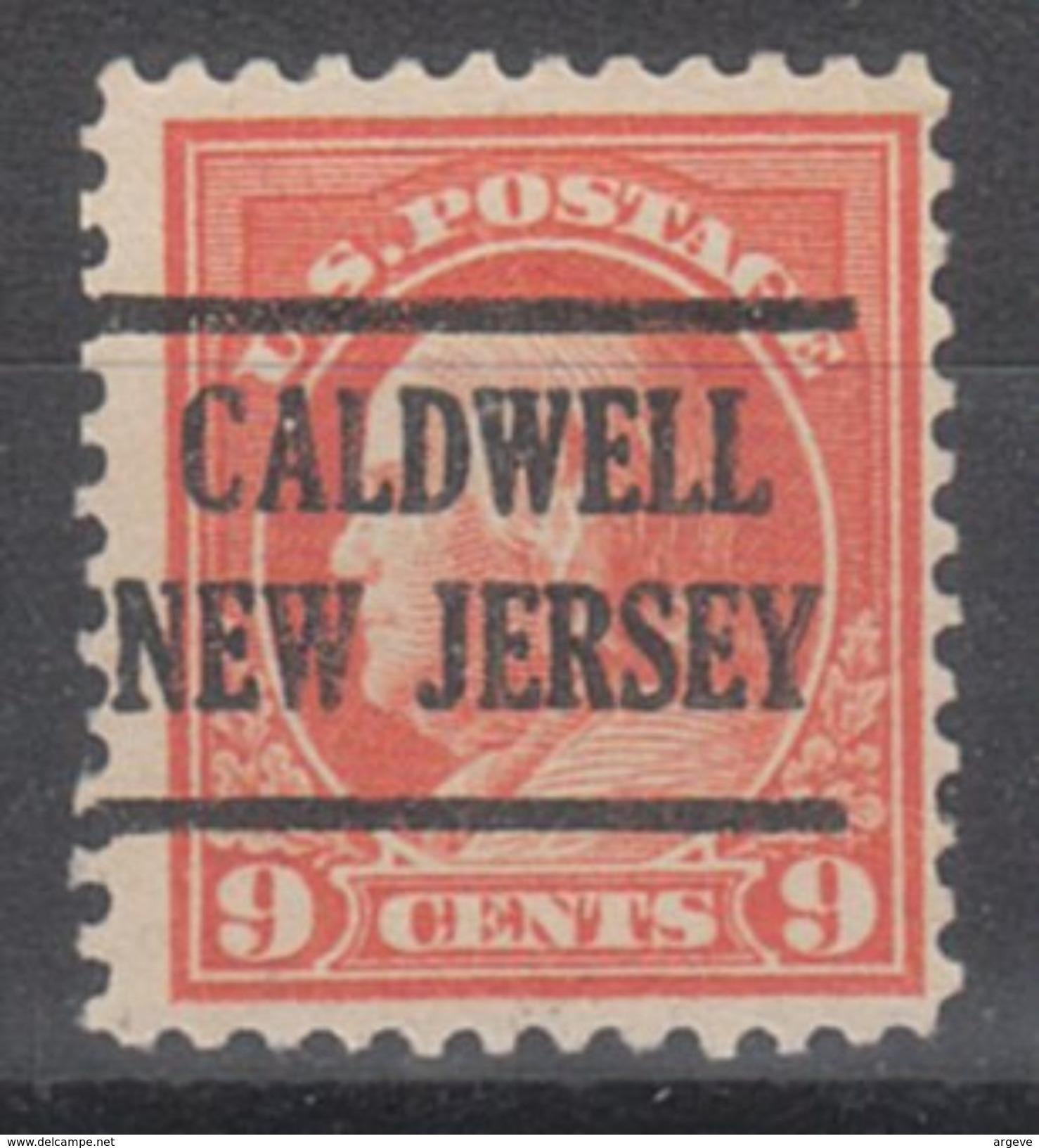 USA Precancel Vorausentwertungen Preo, Locals New Jersey, Caldwell 225, Perf. 11x11 - Vorausentwertungen