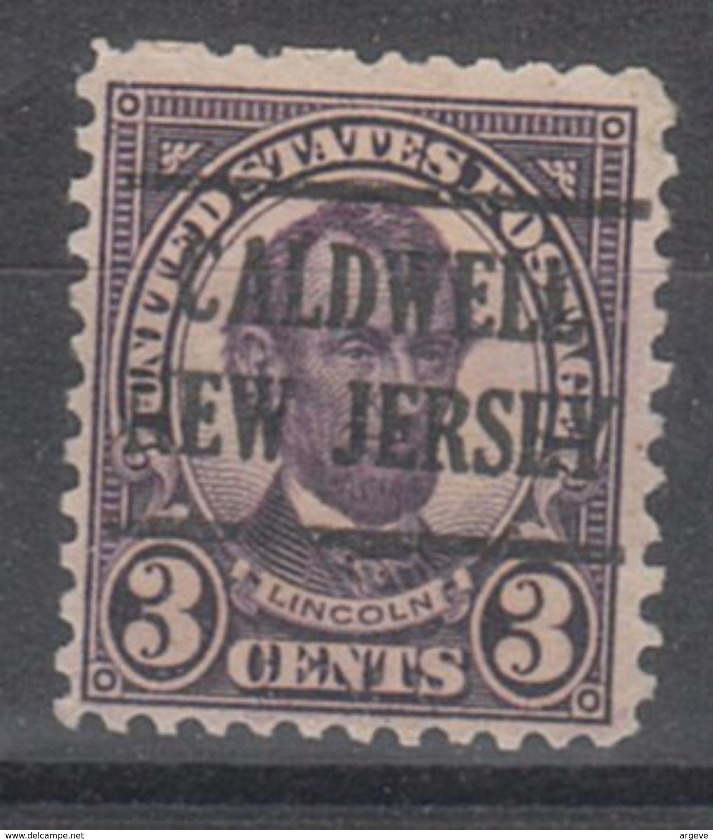 USA Precancel Vorausentwertungen Preo, Locals New Jersey, Caldwell 635-225 - Vereinigte Staaten