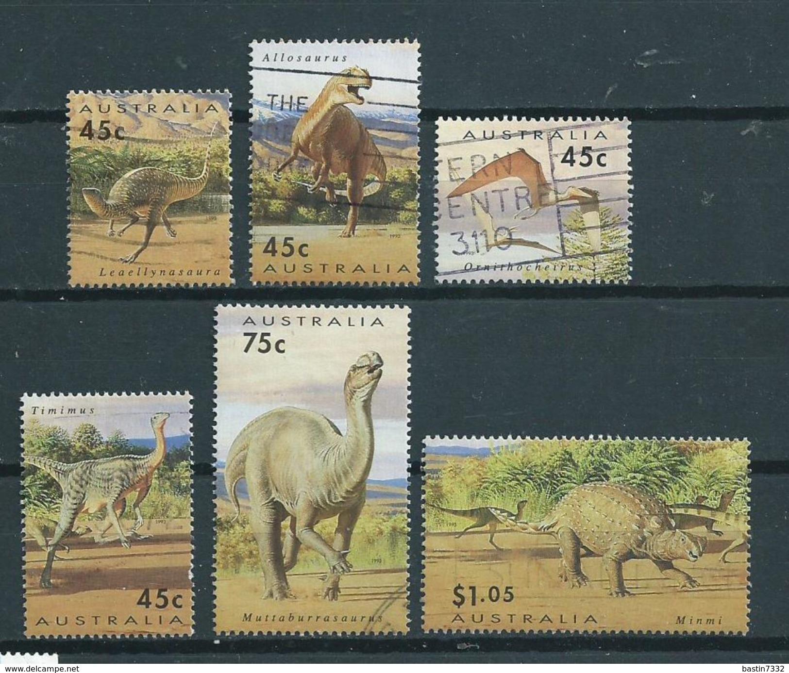 1993 Australia Complete Set Prehistoric Animals,dieren,tiere Used/gebruikt/oblitere - 1990-99 Elizabeth II