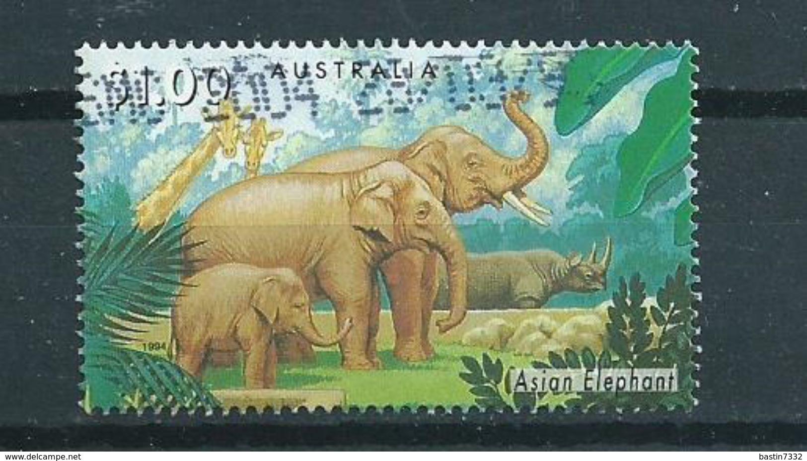1994 Australia $1.00 Zoo,elephant,olifant,dieren,animals Used/gebruikt/oblitere - 1990-99 Elizabeth II