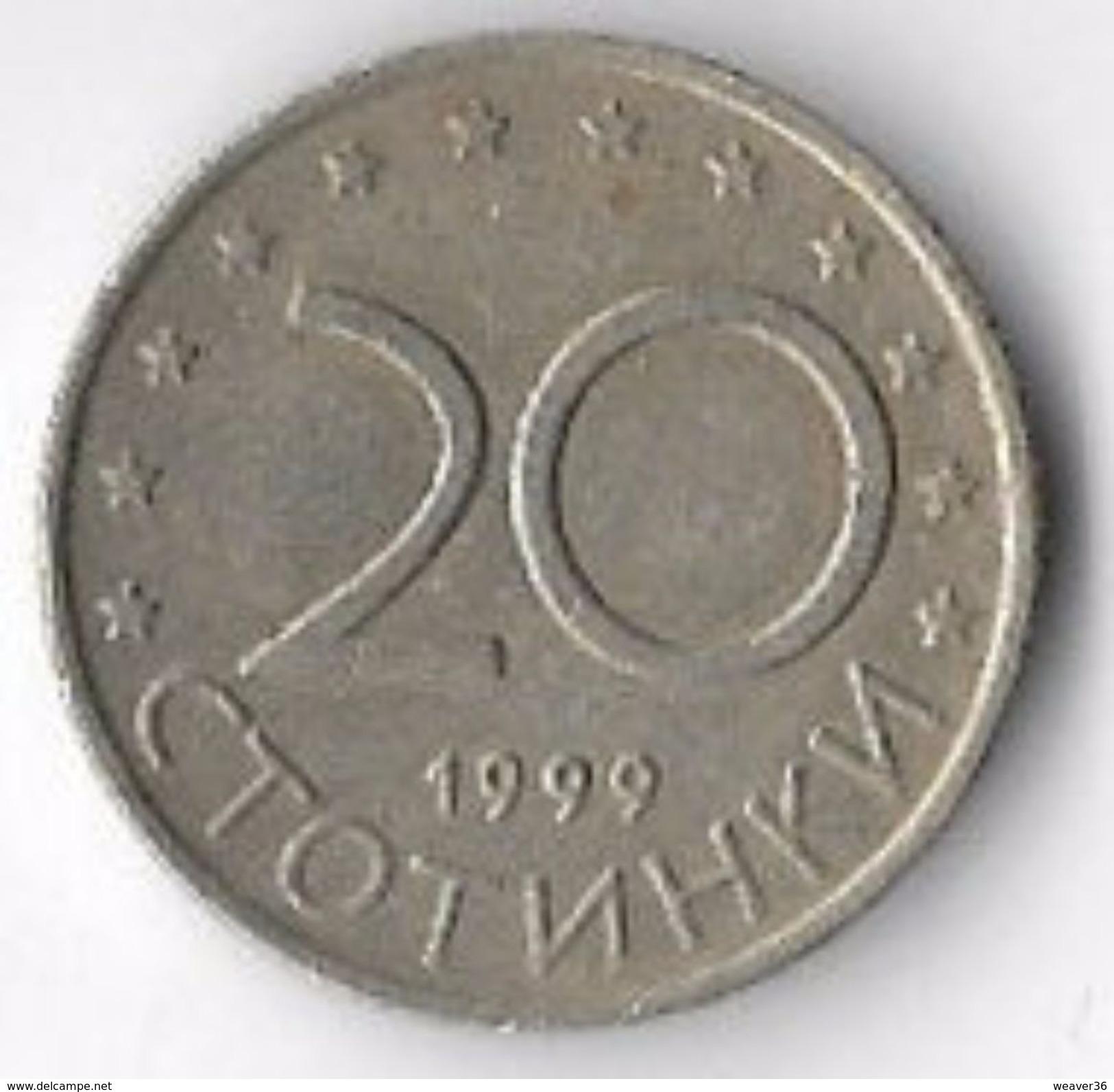 Bulgaria 1999 20 Stotinki [C727/2D] - Bulgaria