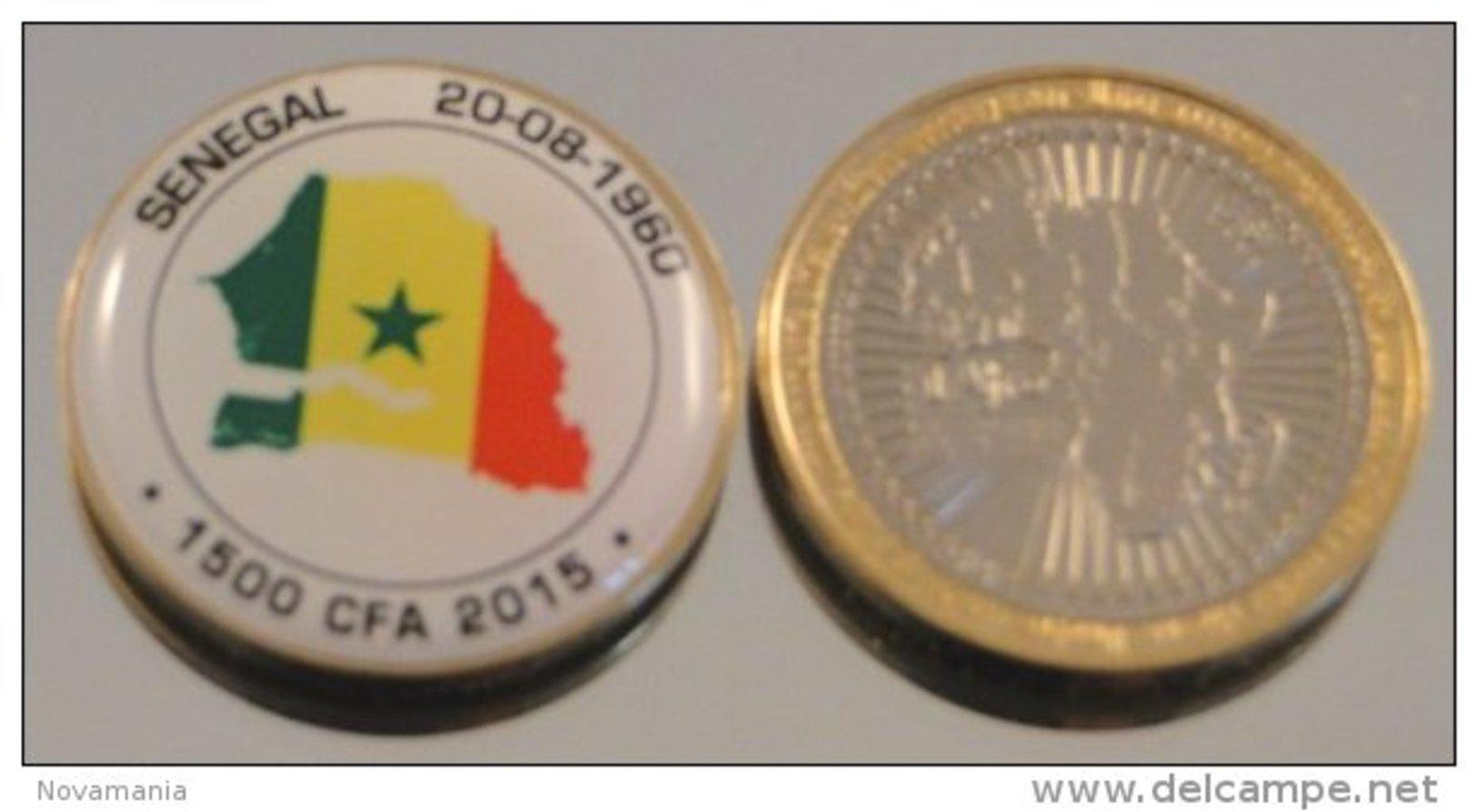 Senegal 2015 Bimetal Couleurs Drapeau - Sénégal